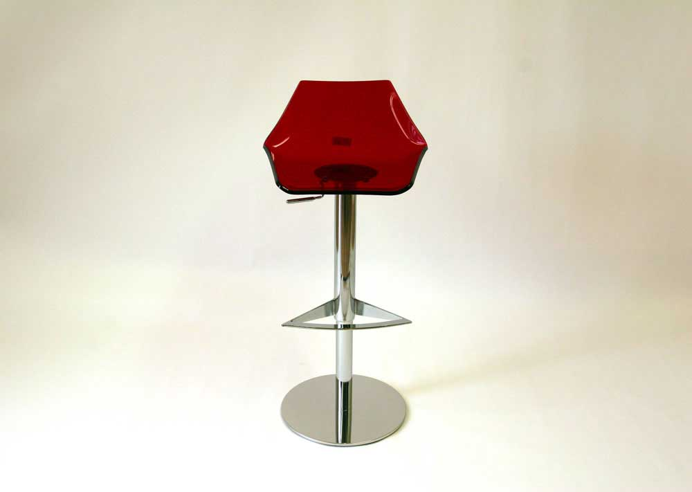 Floor Sample 004 Red Acrylic Barstool By J M Furniture