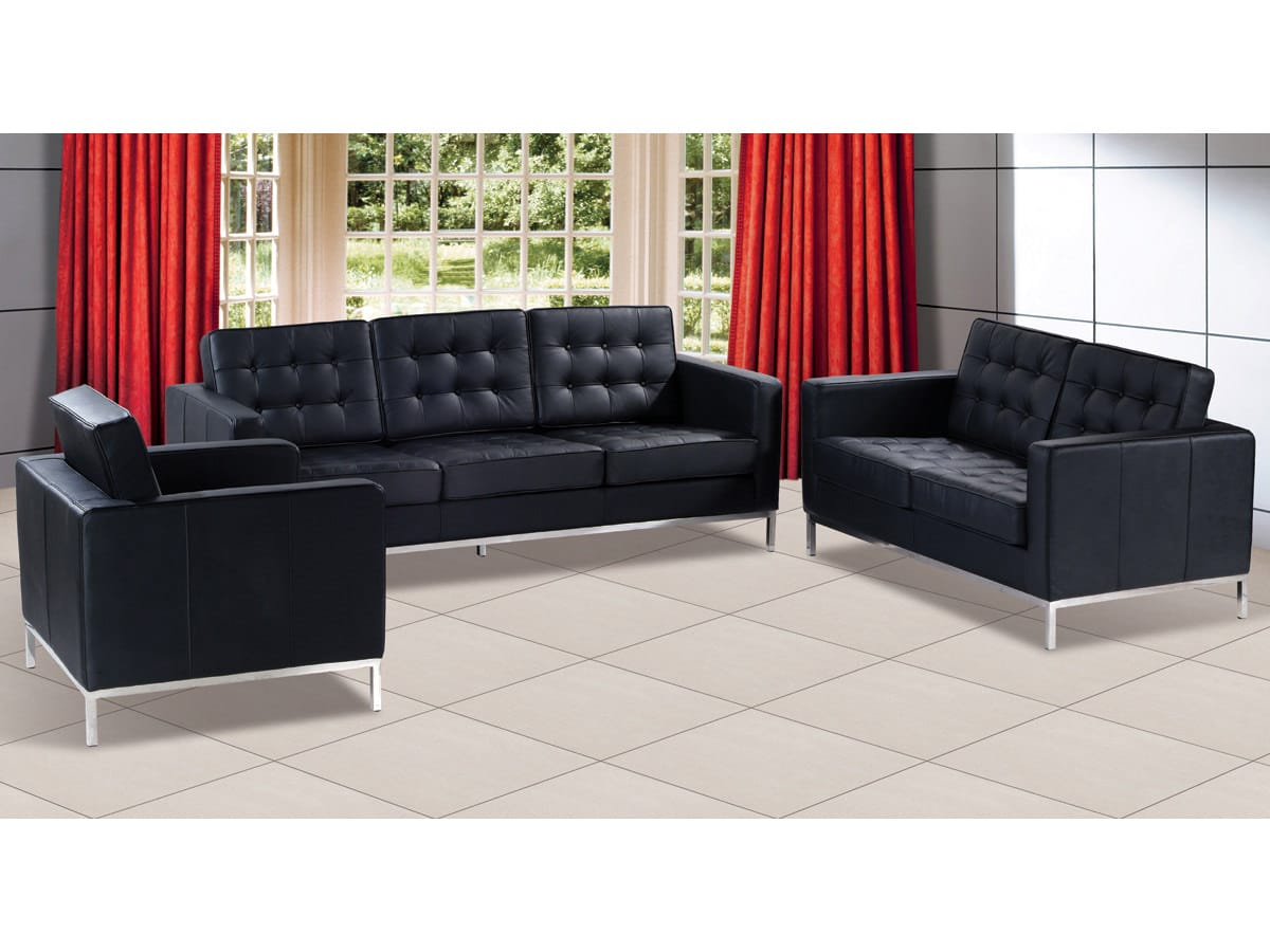F08 Black Sofa by At Home