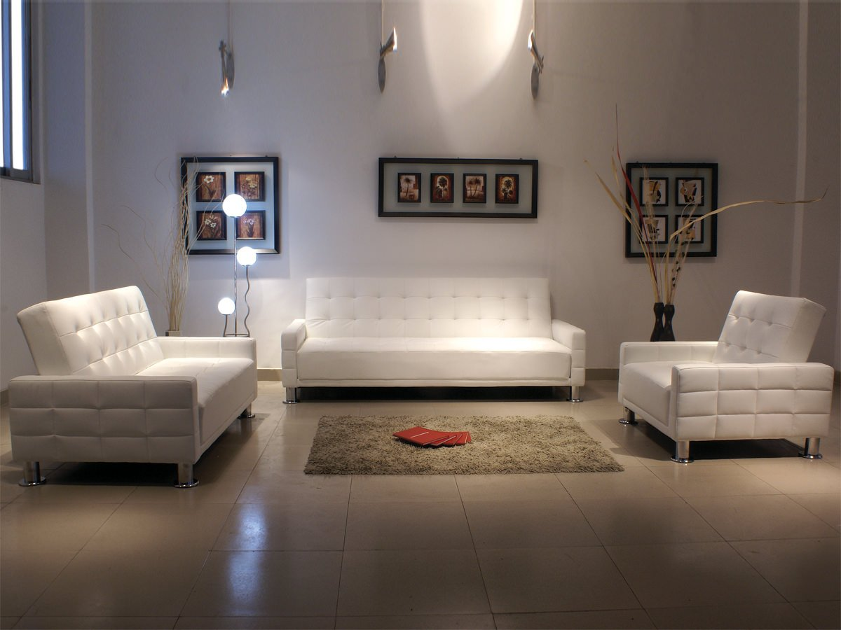 Fina White Leatherette Sofa Bed By At Home Usa - Fina-leather-sofa-by-athomeusa