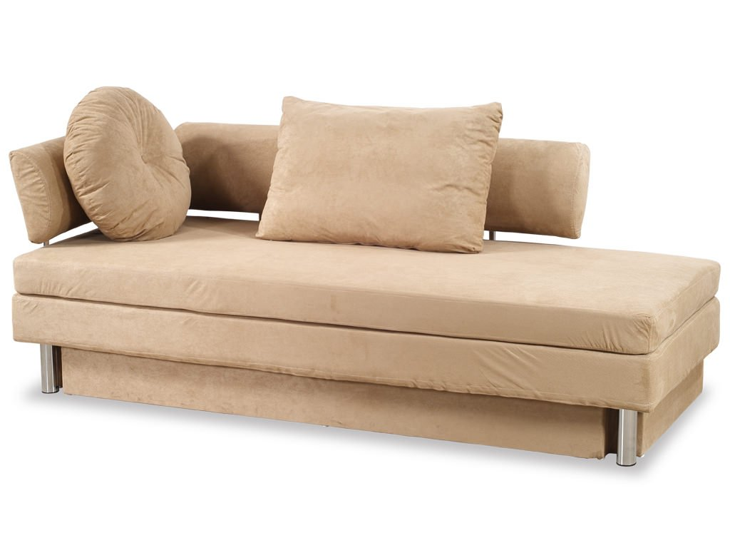 Nubo khaki microfiber queen size sofa bed by at home usa for Sofa bed queen size