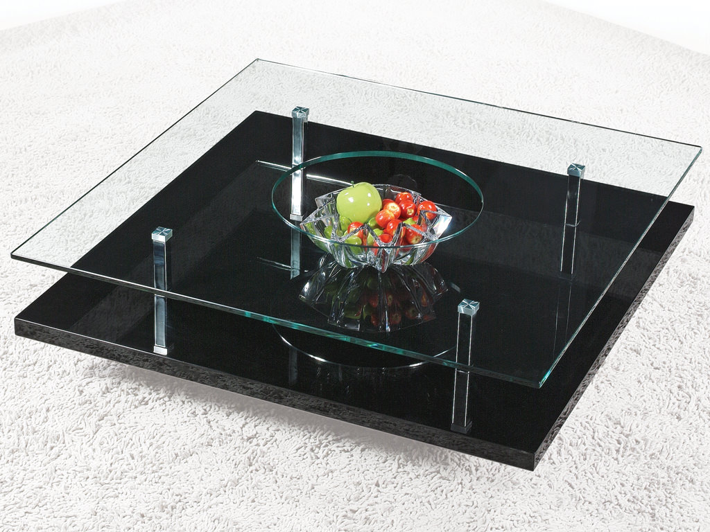C258 Square Black Coffee Table