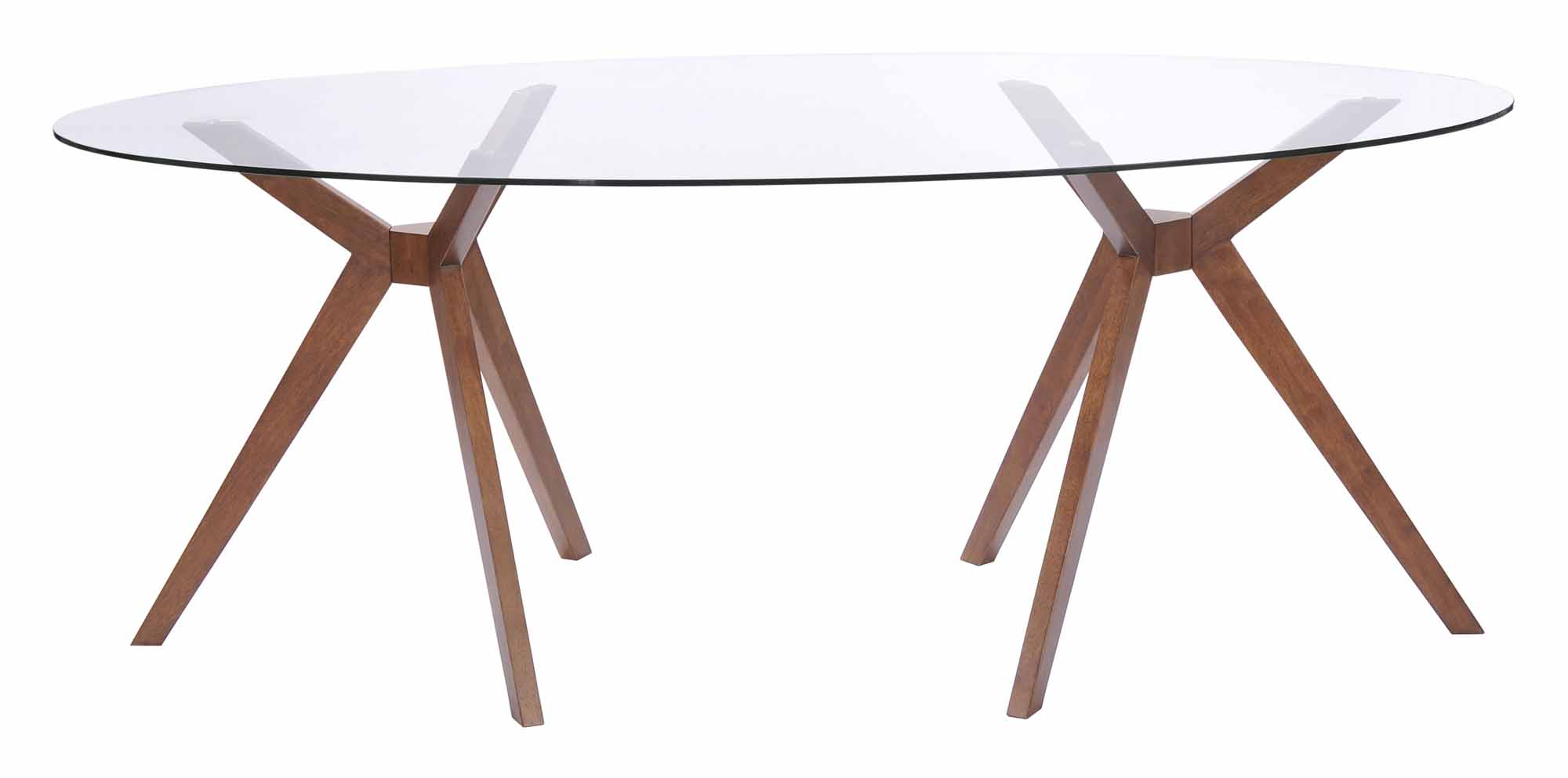 Buena Vista Dining Table Walnut By Zuo Modern