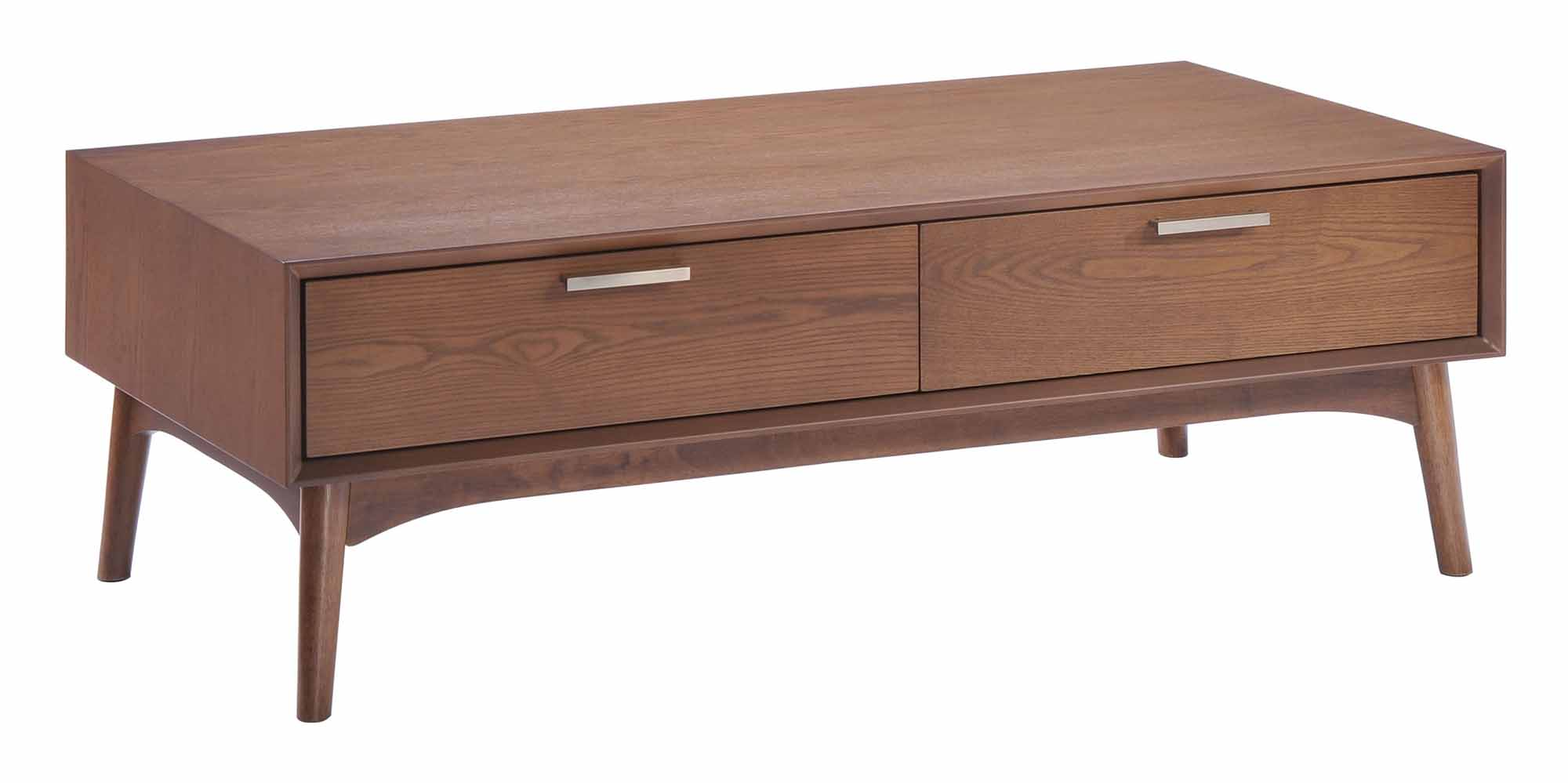 Design District Coffee Table Walnut By Zuo Modern