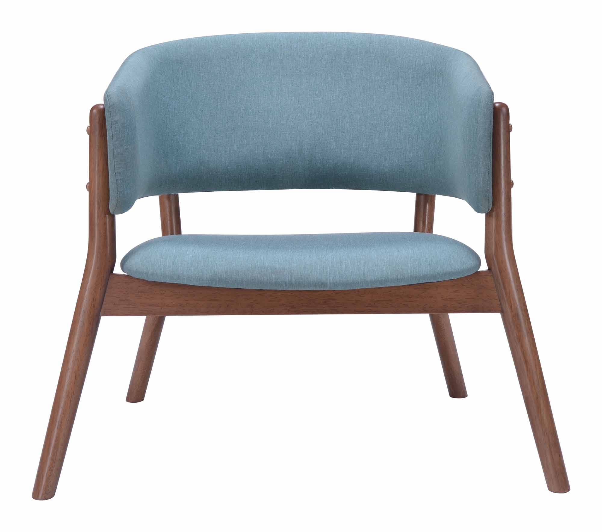 Chapel Lounge Chair Blue Set of 2 by Zuo Modern
