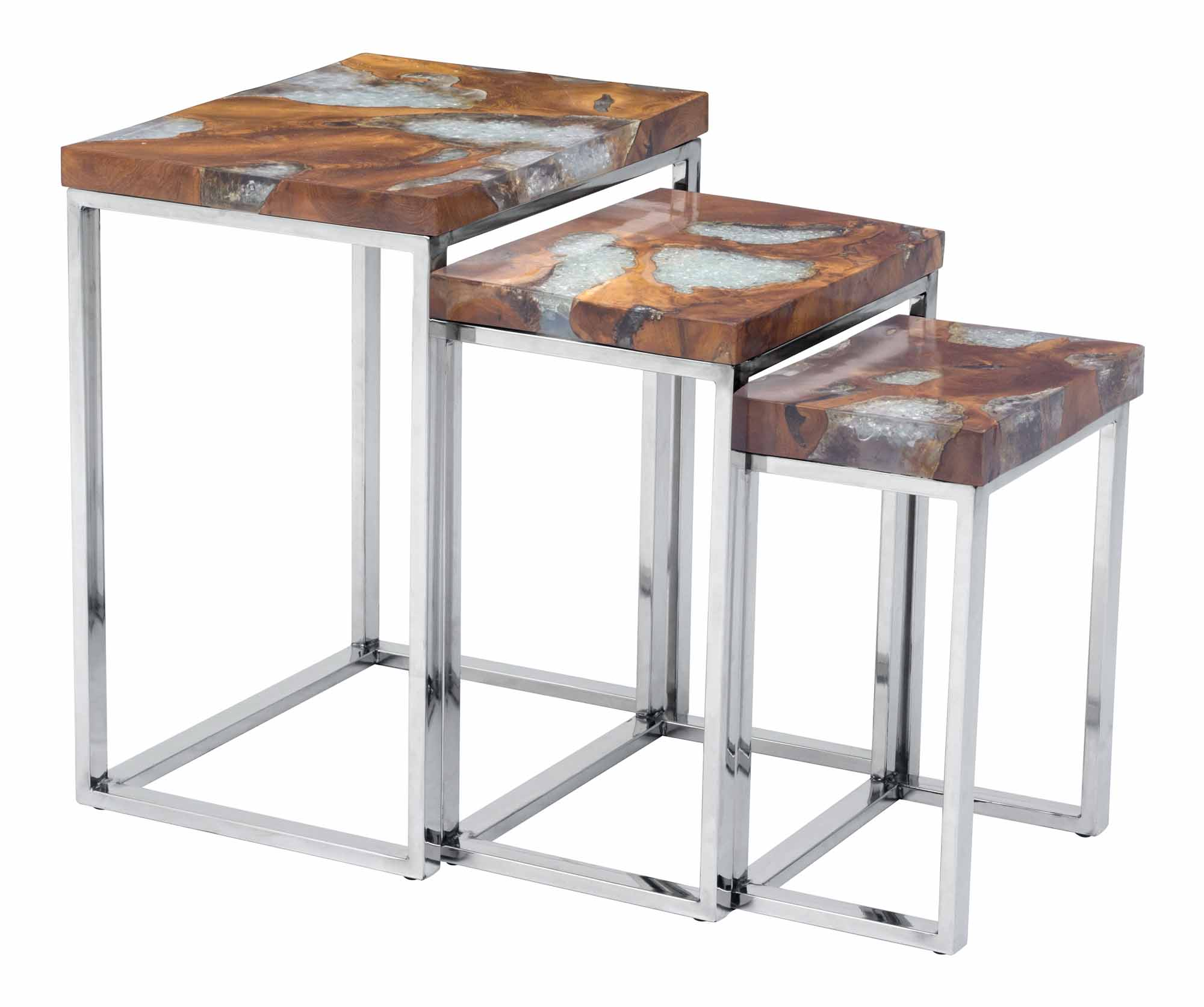 Fissure Nesting Tables By Zuo Modern