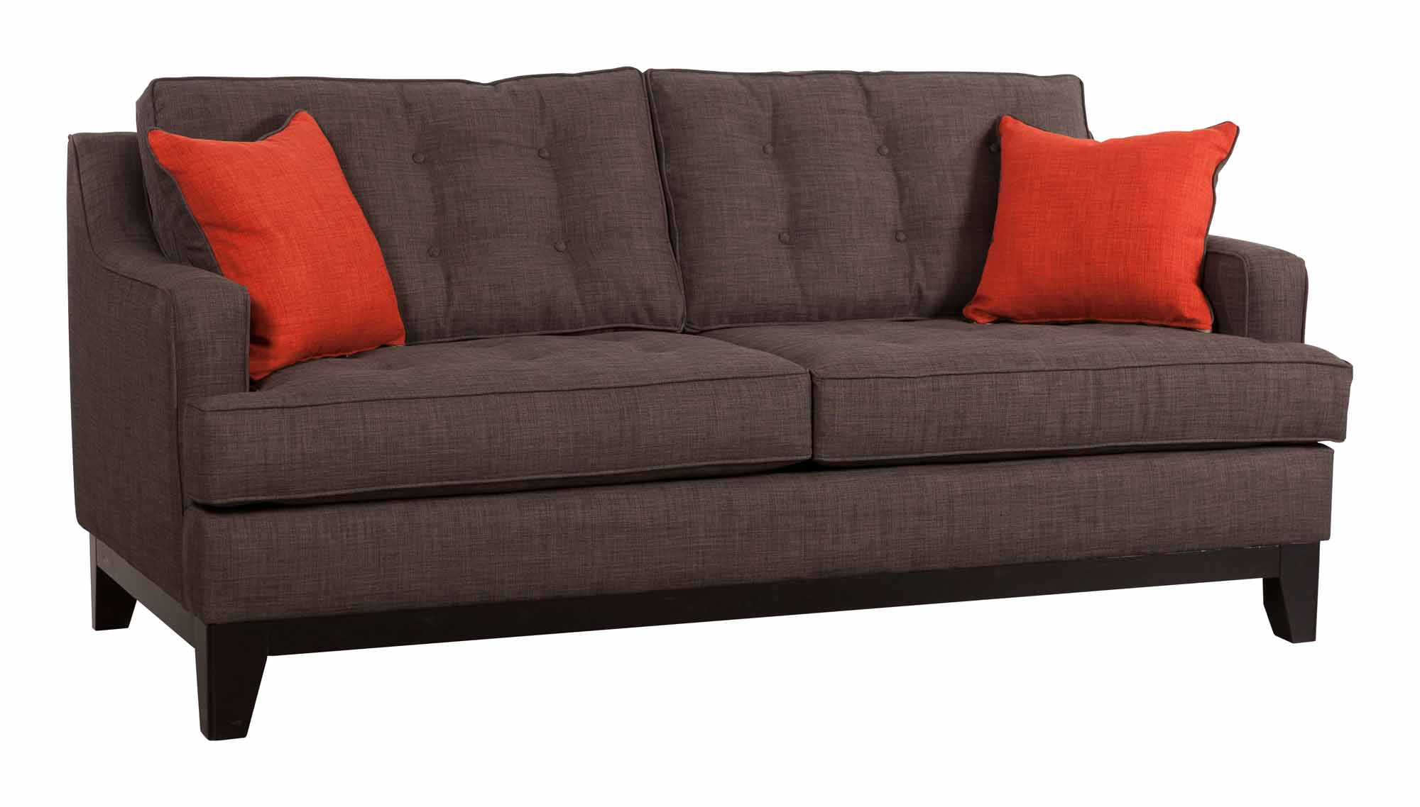 Chicago Sofa Charcoal/Burnt Orange by Zuo Modern