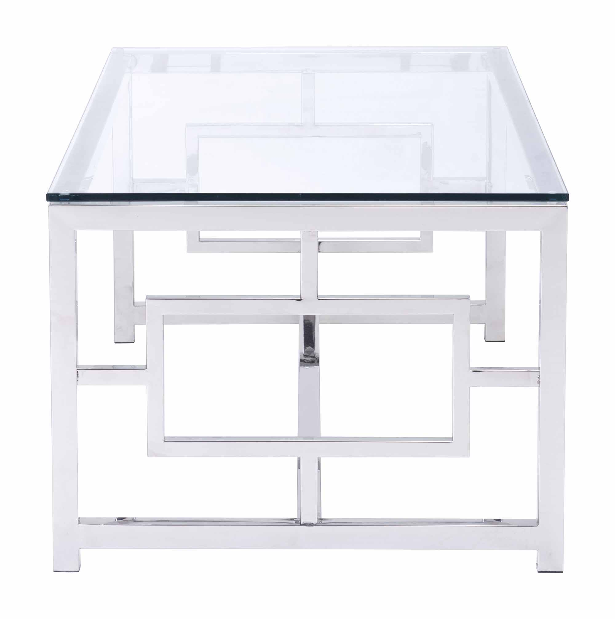 Geranium Coffee Table Stainless Steel By Zuo Modern