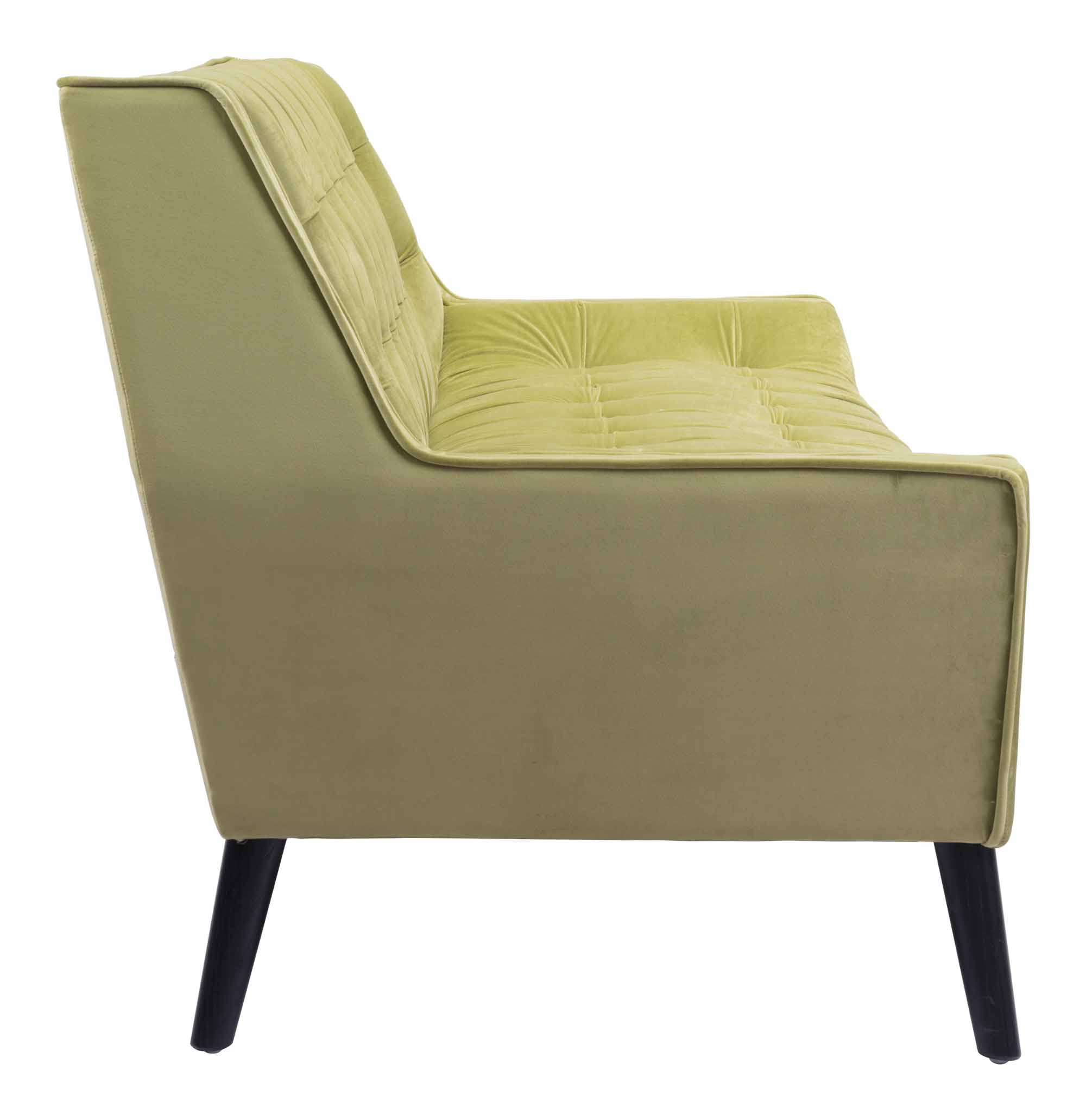 Nantucket Sofa Green Velvet by Zuo Modern