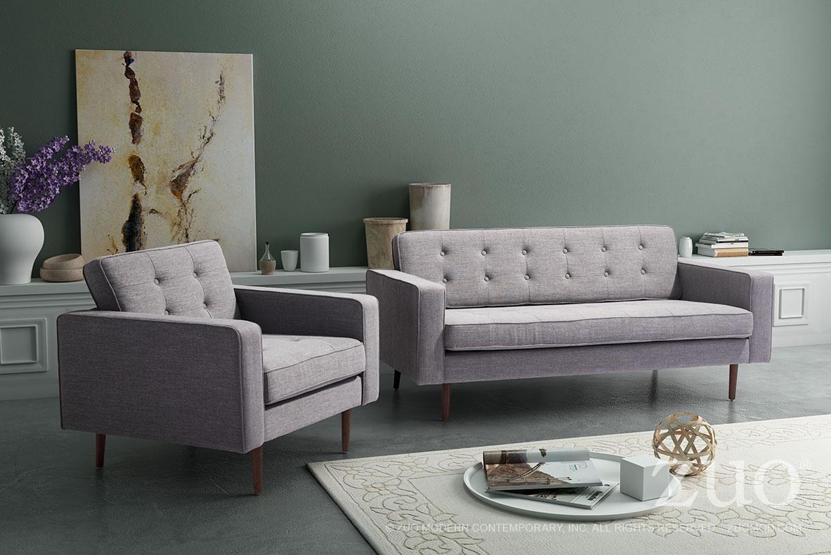 Puget sofa gray by zuo modern