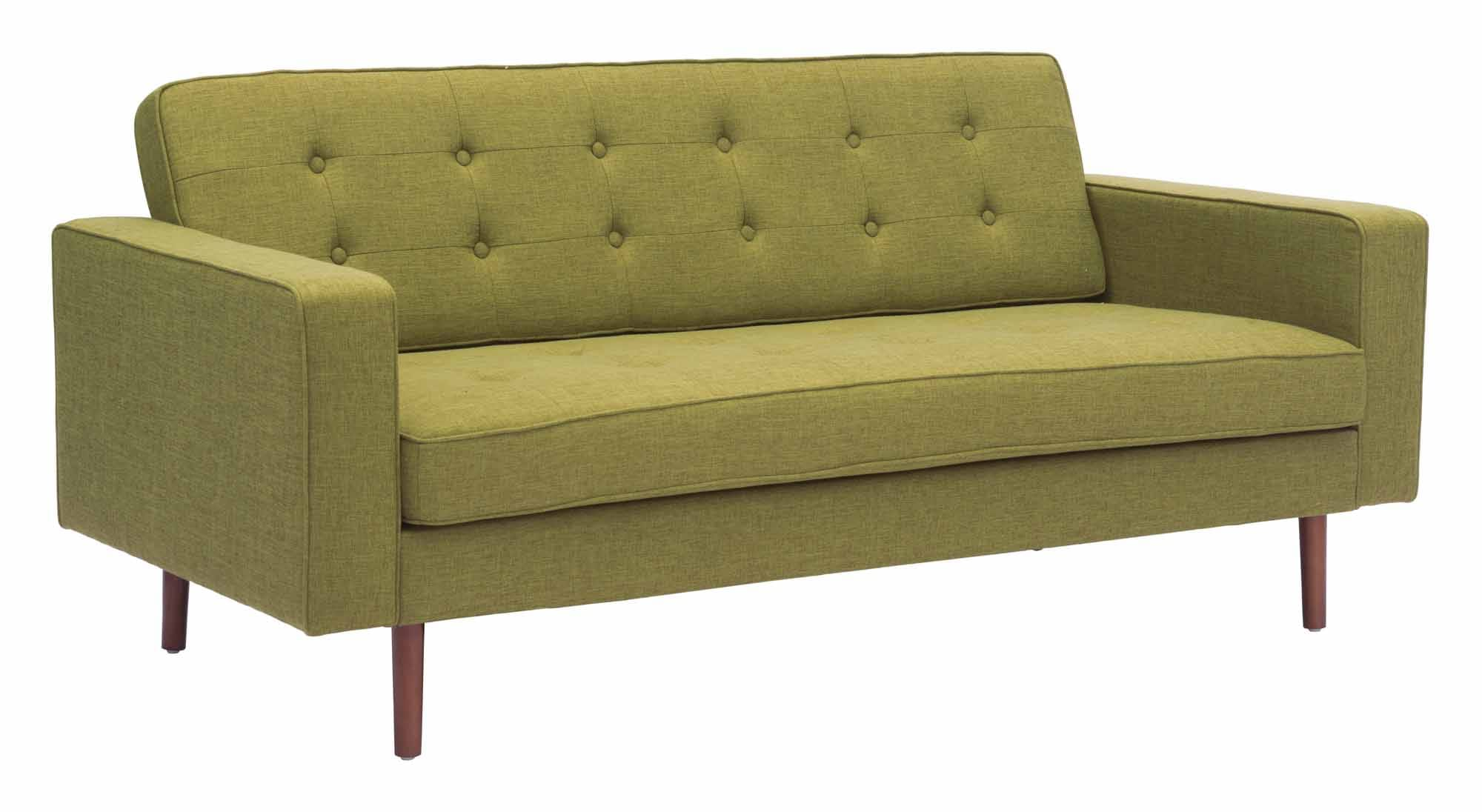 Fine Puget Sofa Green By Zuo Modern Dailytribune Chair Design For Home Dailytribuneorg