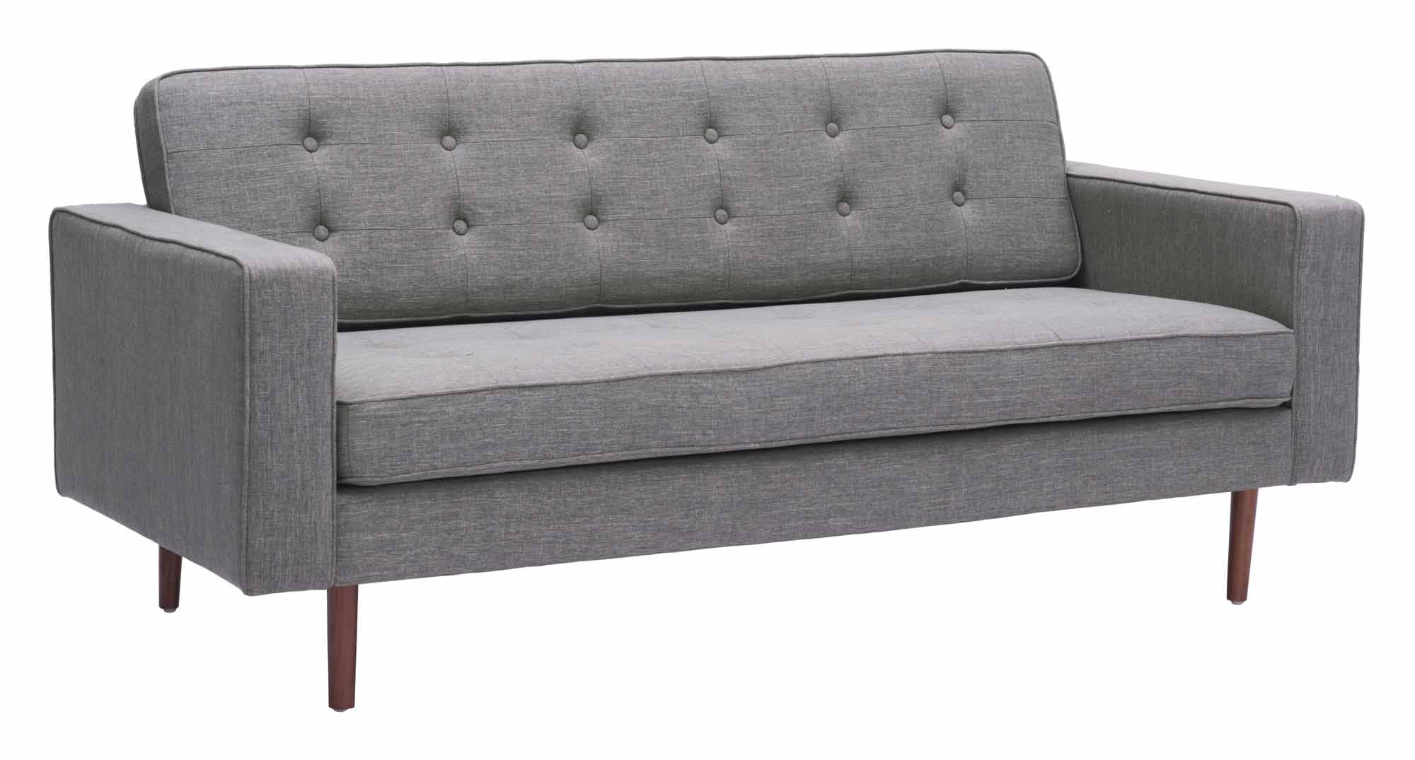 Pu Sofa Gray by Zuo Modern
