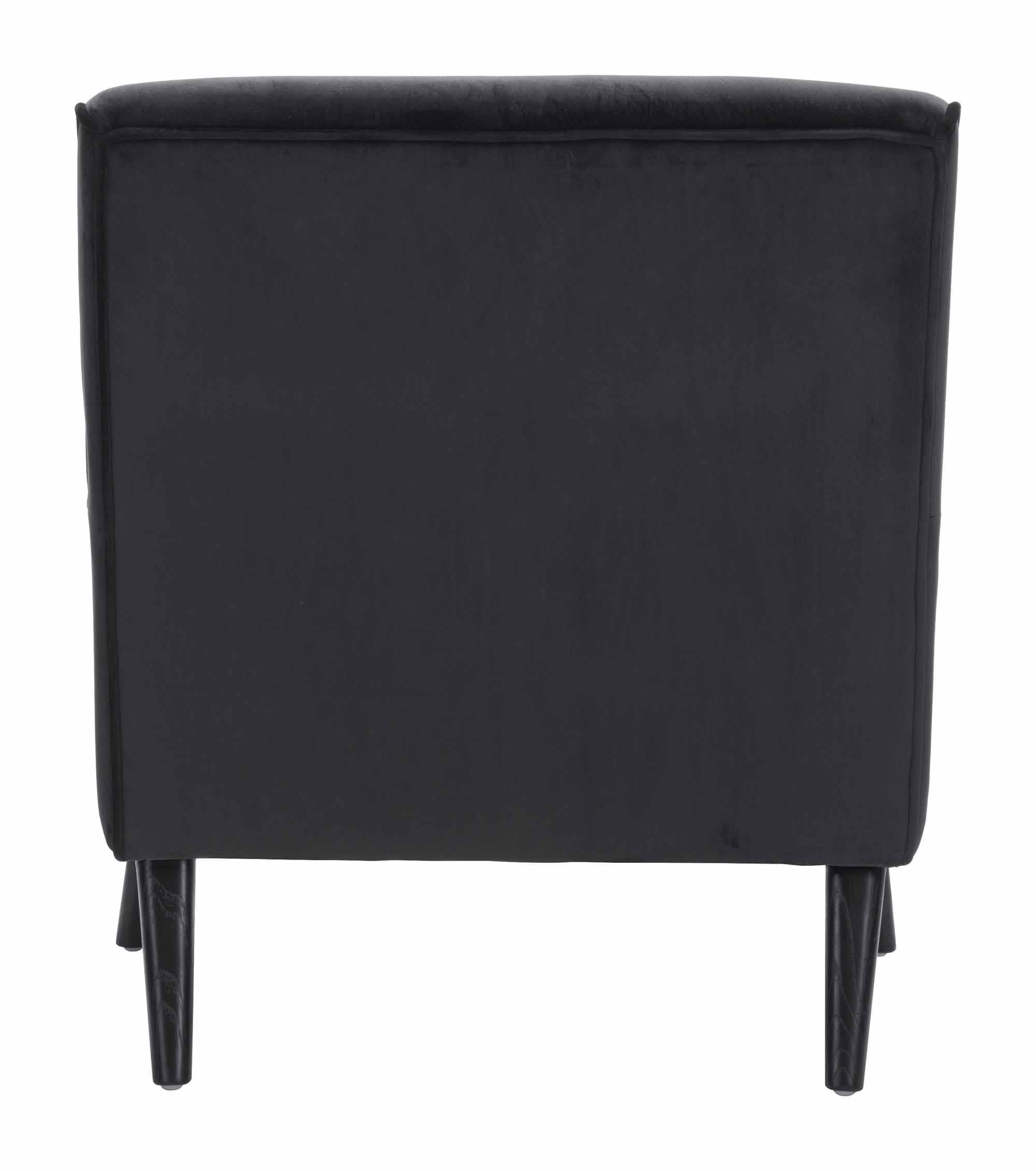 Coney Arm Chair Black Velvet by Zuo Modern