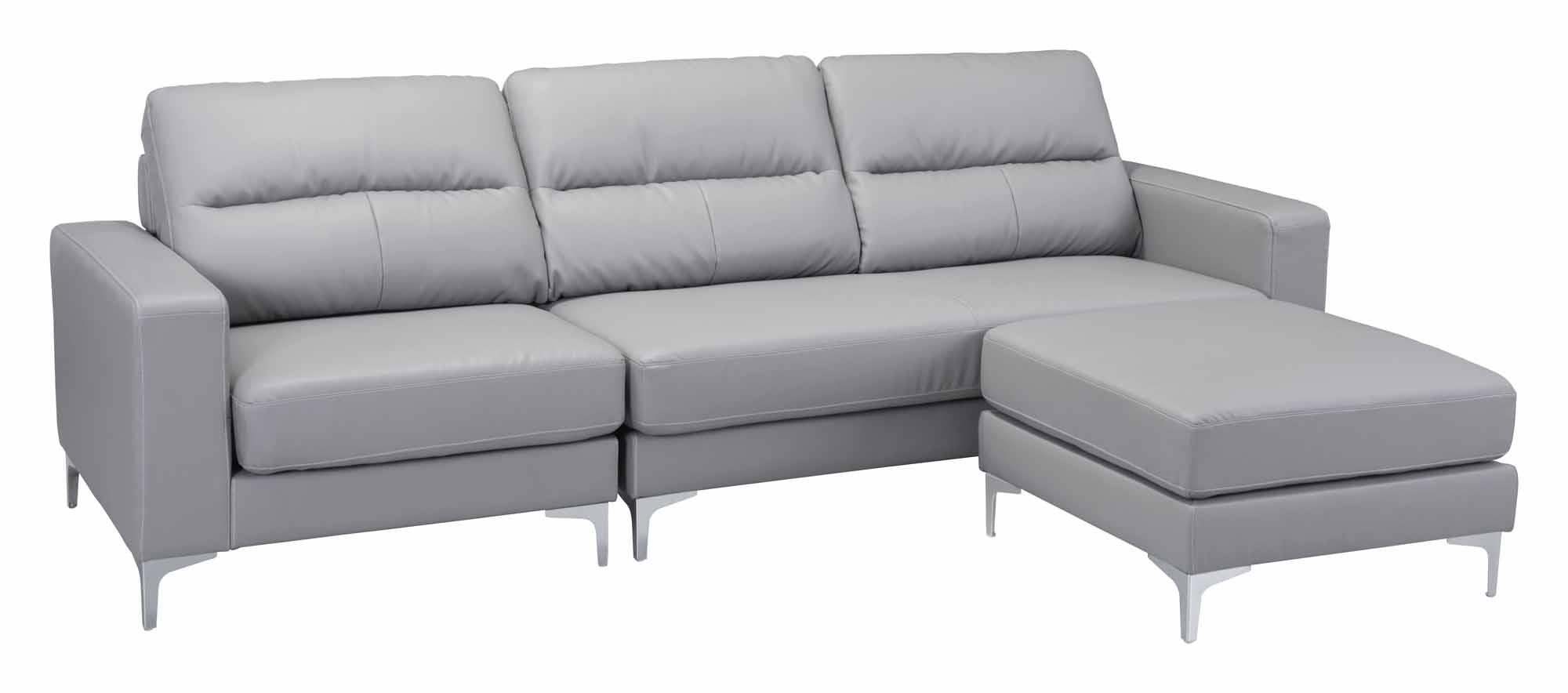 Marvelous Versa Sectional Gray By Zuo Modern Andrewgaddart Wooden Chair Designs For Living Room Andrewgaddartcom