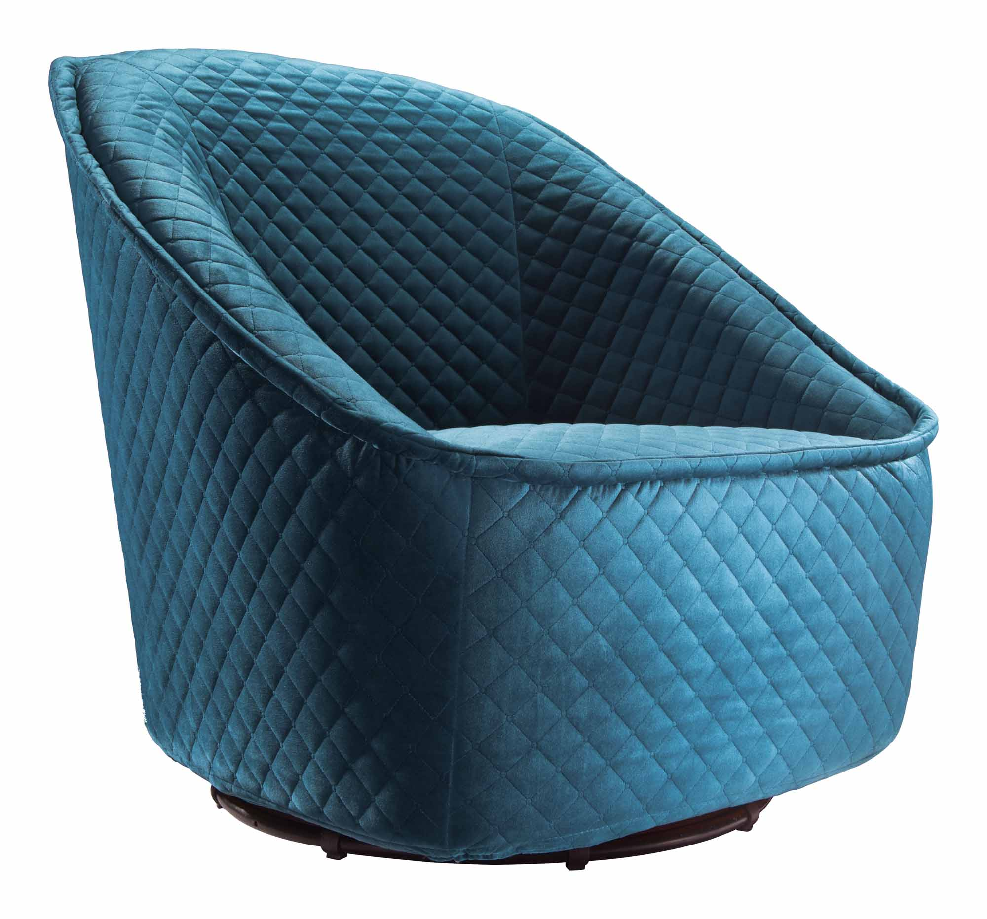 Pug Swivel Chair Aquamarine by Zuo Modern