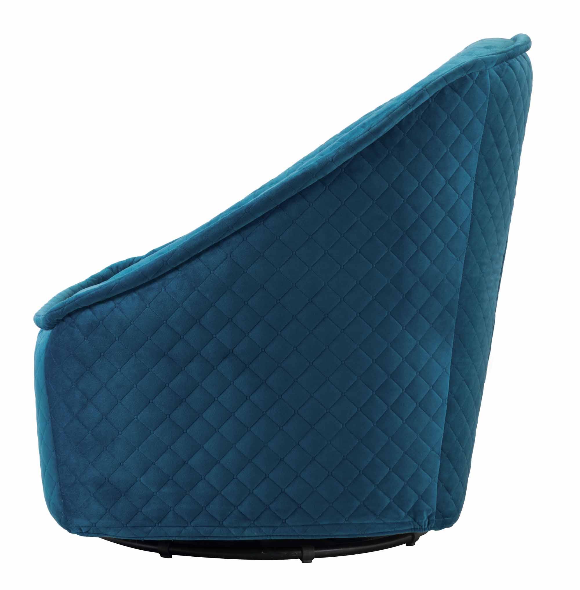Amazing Pug Swivel Chair Aquamarine By Zuo Modern Evergreenethics Interior Chair Design Evergreenethicsorg