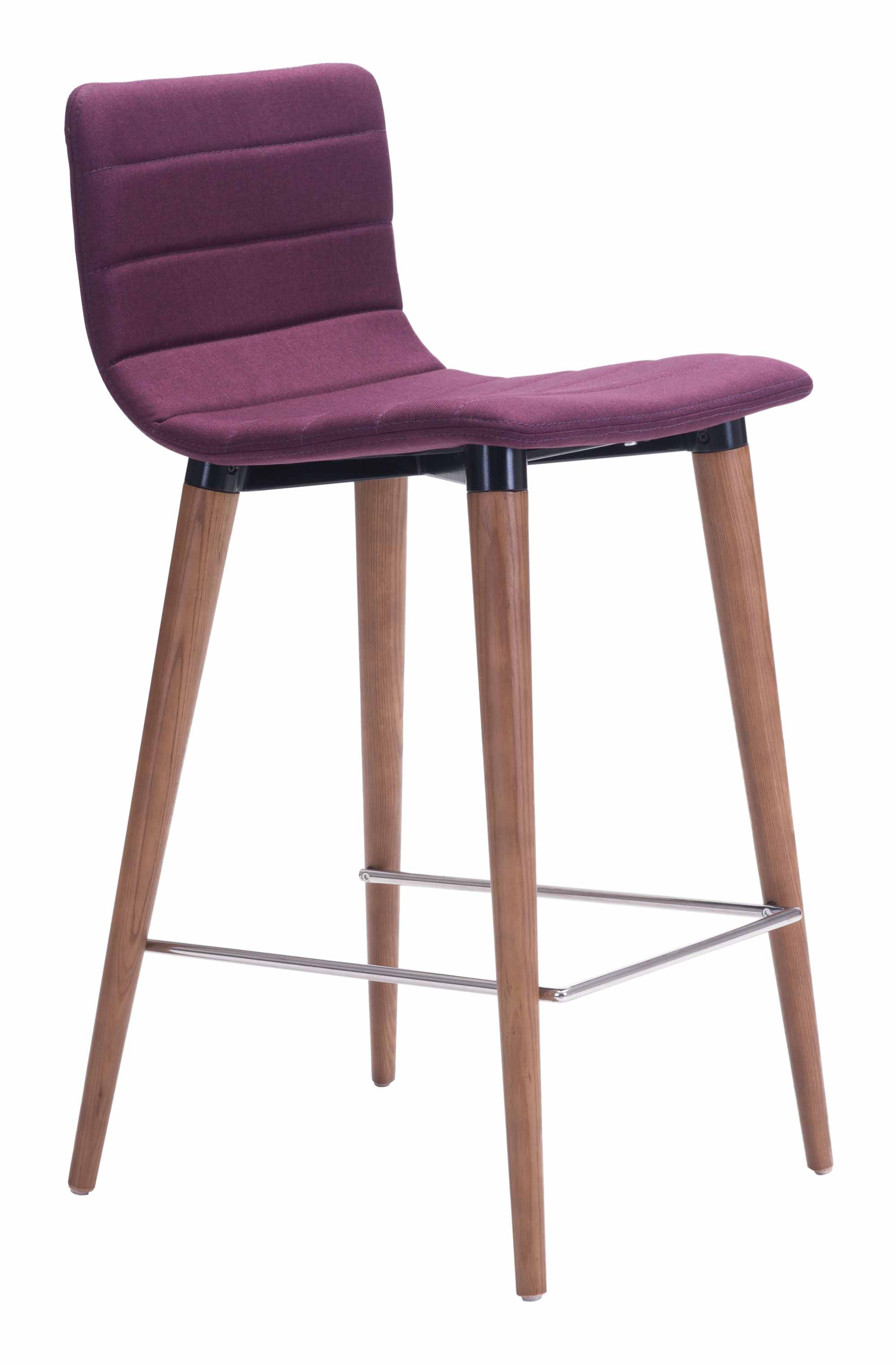 Amazing Jericho Counter Chair Purple Set Of 2 By Zuo Modern Uwap Interior Chair Design Uwaporg
