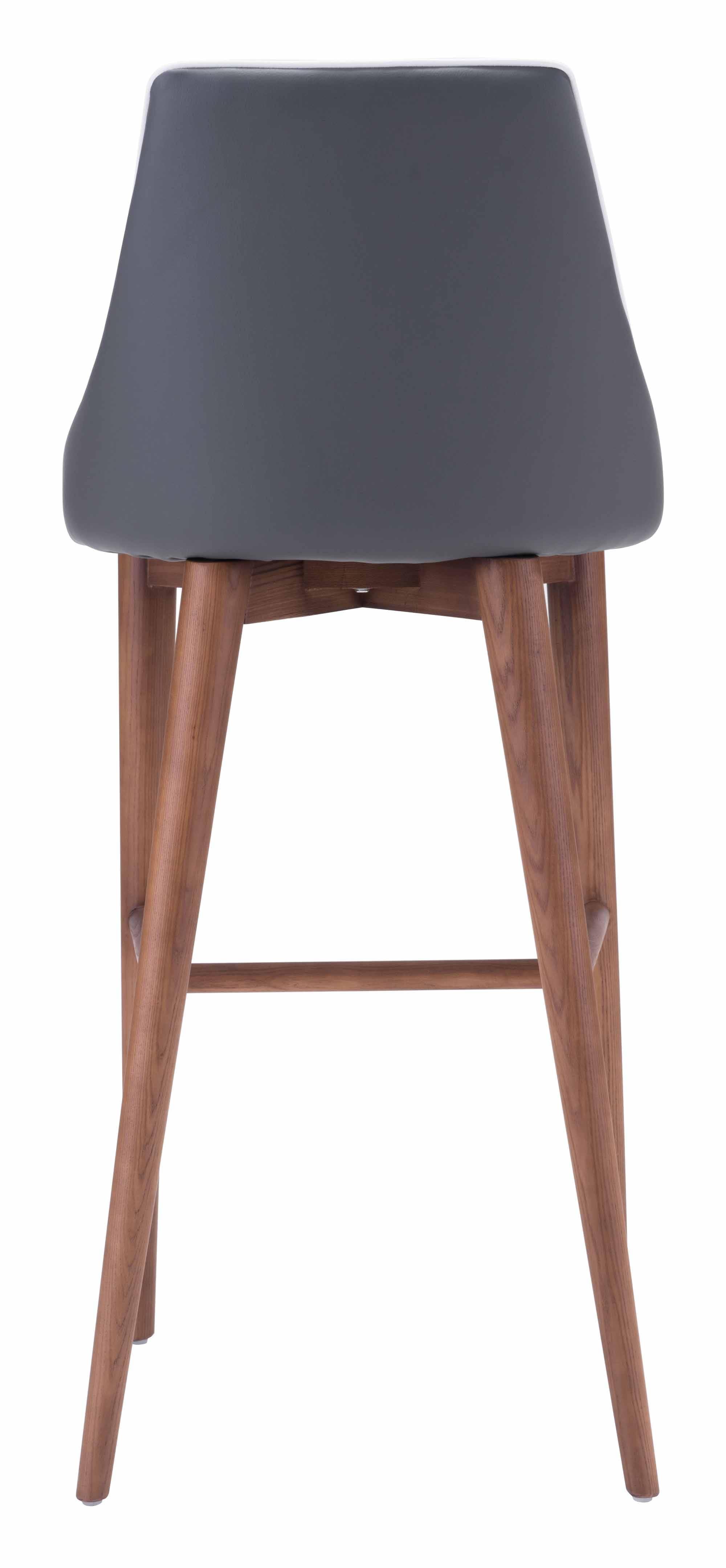 Moor Bar Chair Dark Gray by Zuo Modern