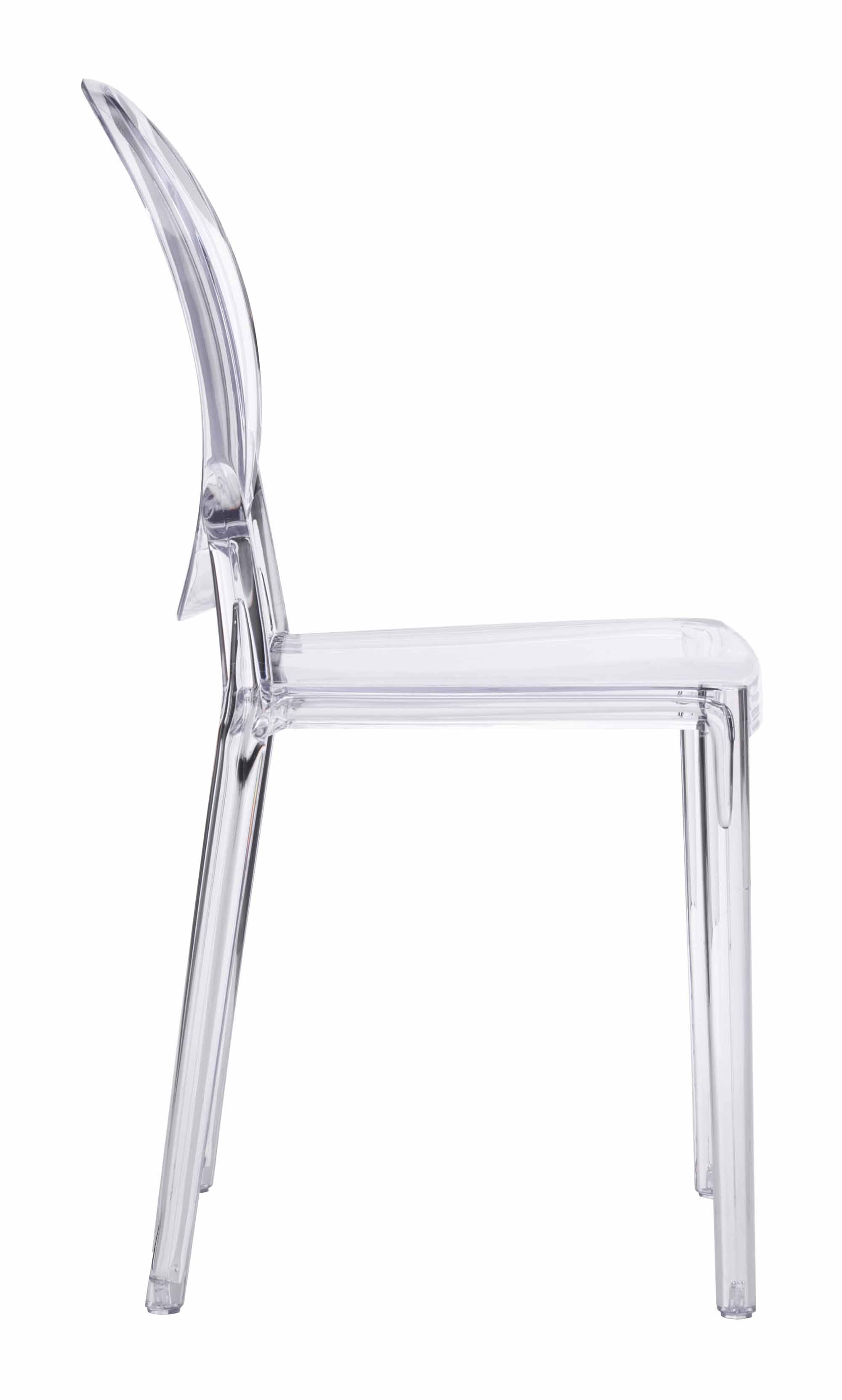 Ikea Kitchen Financing Usa   Specter Dining Chair Clear (Set Of 2) By Zuo  Modern