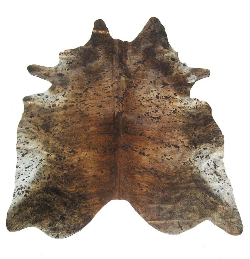 Devore Metallic Dark Brindle Copper Cowhide