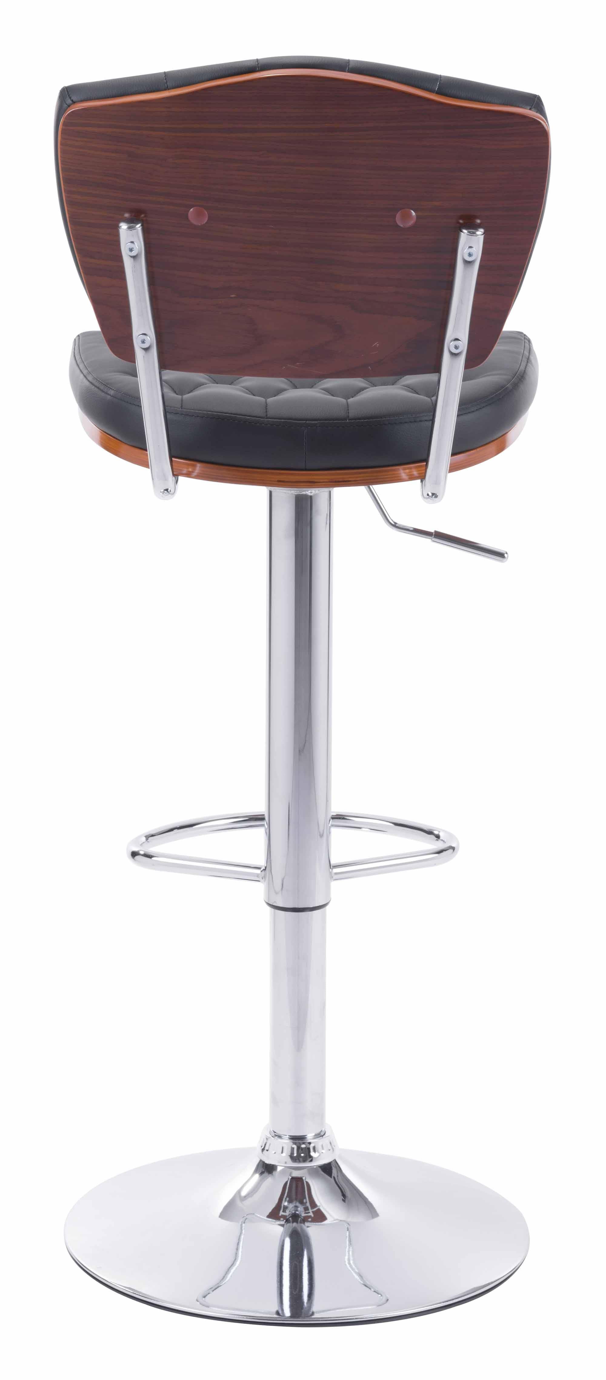 Tiger Bar Chair Black by Zuo Modern