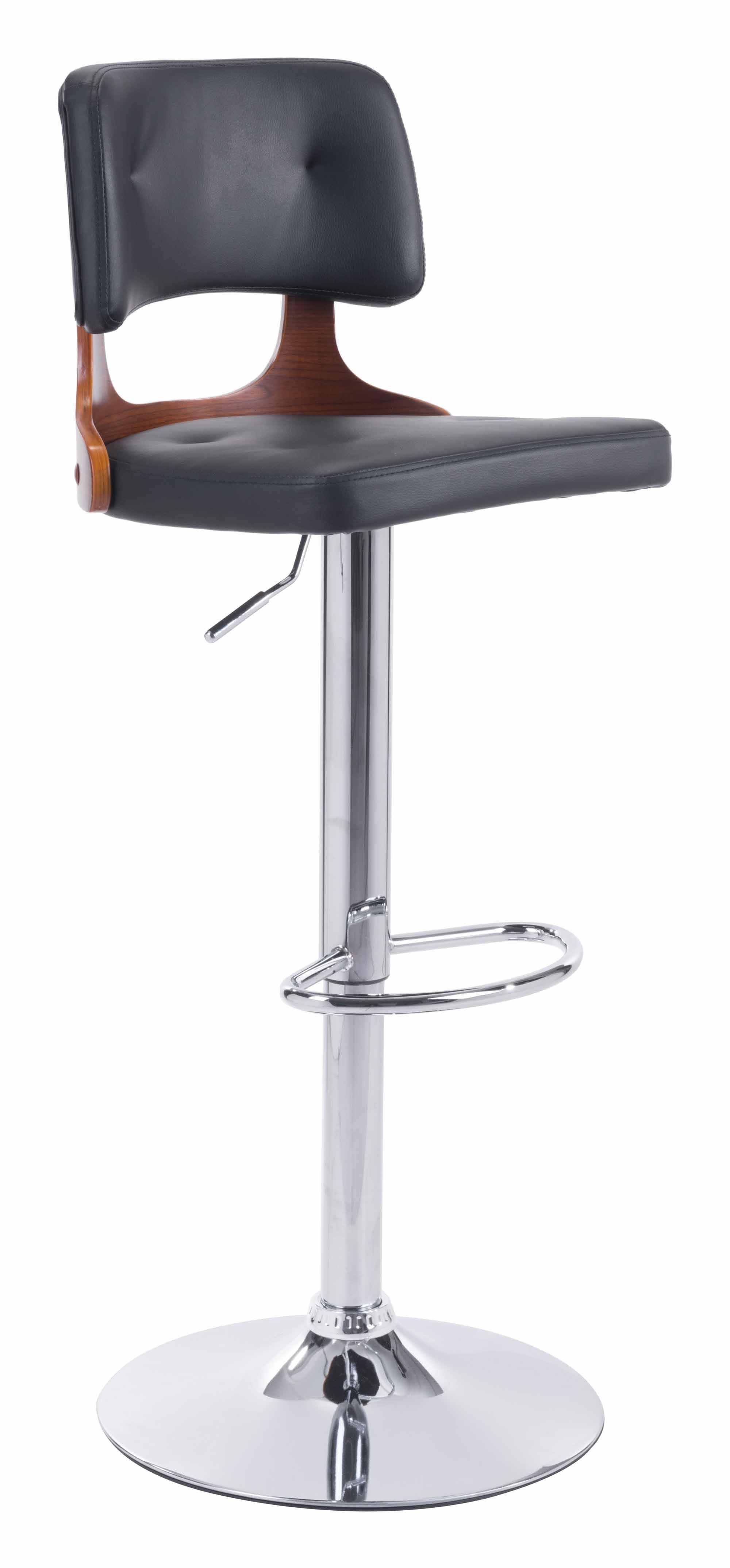Swell Lynx Bar Chair Black By Zuo Modern Inzonedesignstudio Interior Chair Design Inzonedesignstudiocom