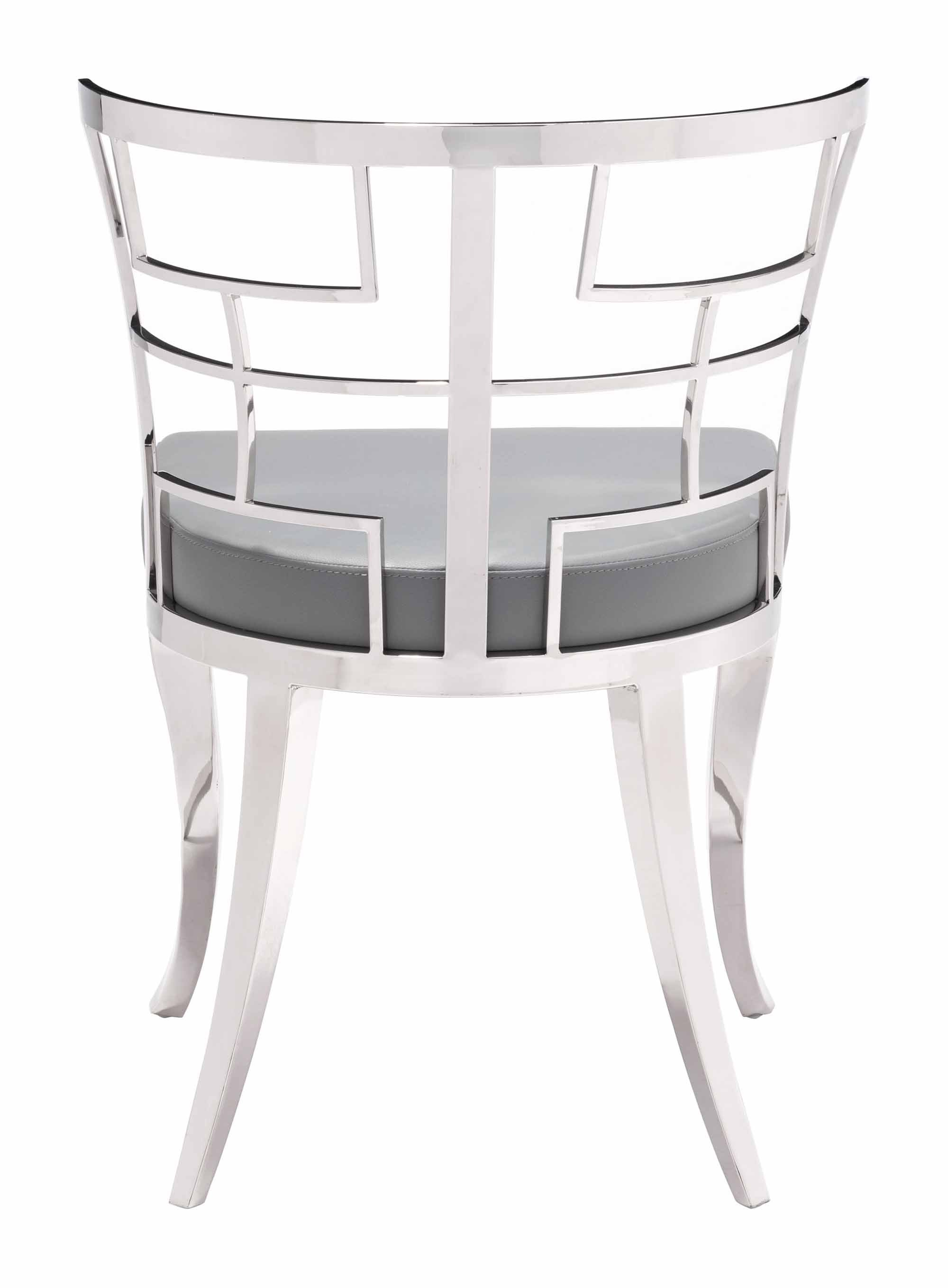 Quince Dining Chair Gray Set of 2 by Zuo Modern
