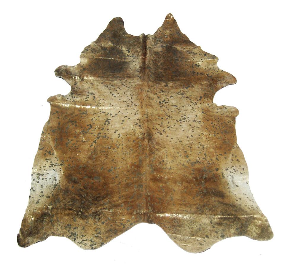 Devore metallic medium brindle bronze sm pattern cowhide for Cowhide rugs nyc