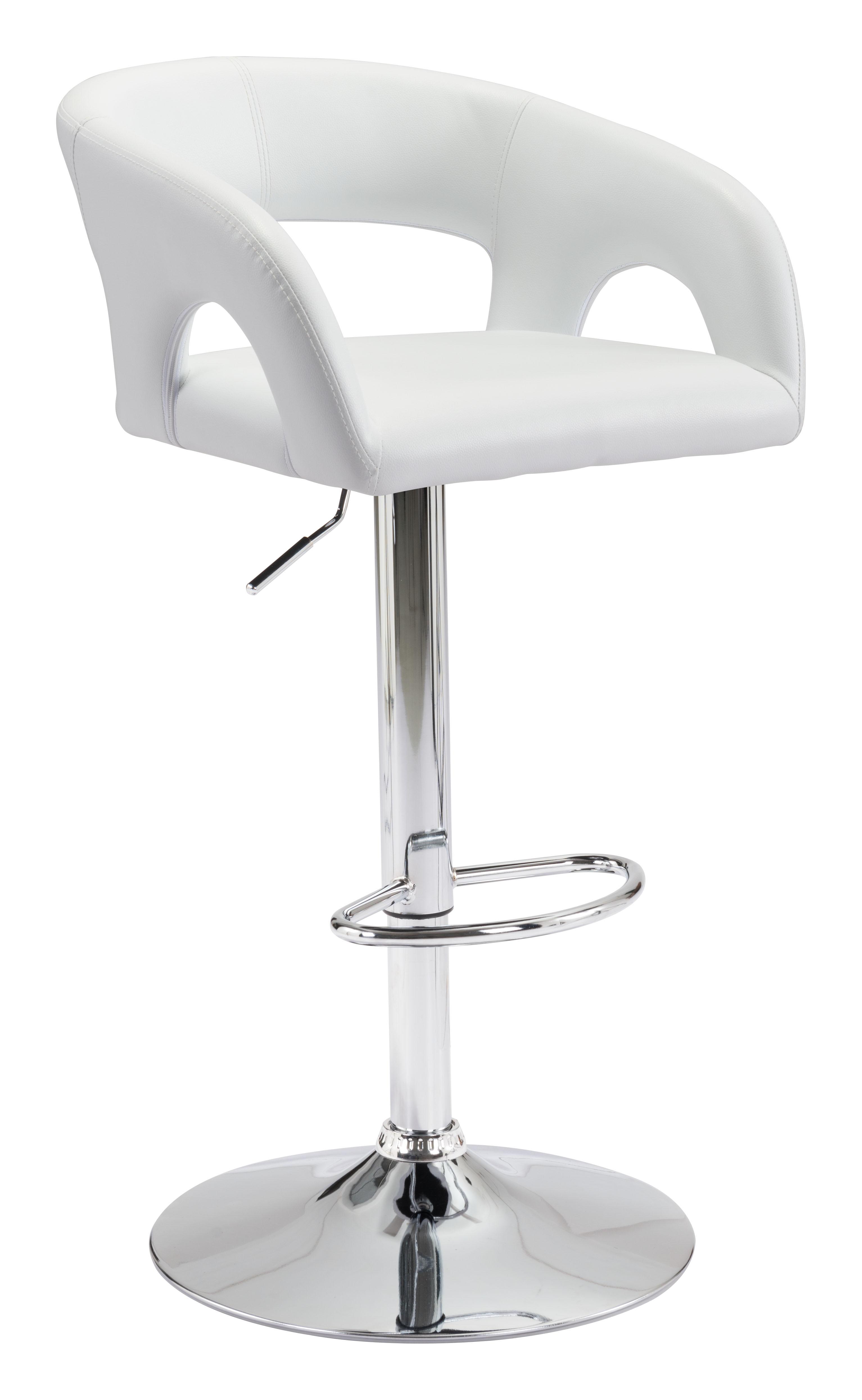 Hark Bar Chair White by Zuo Modern