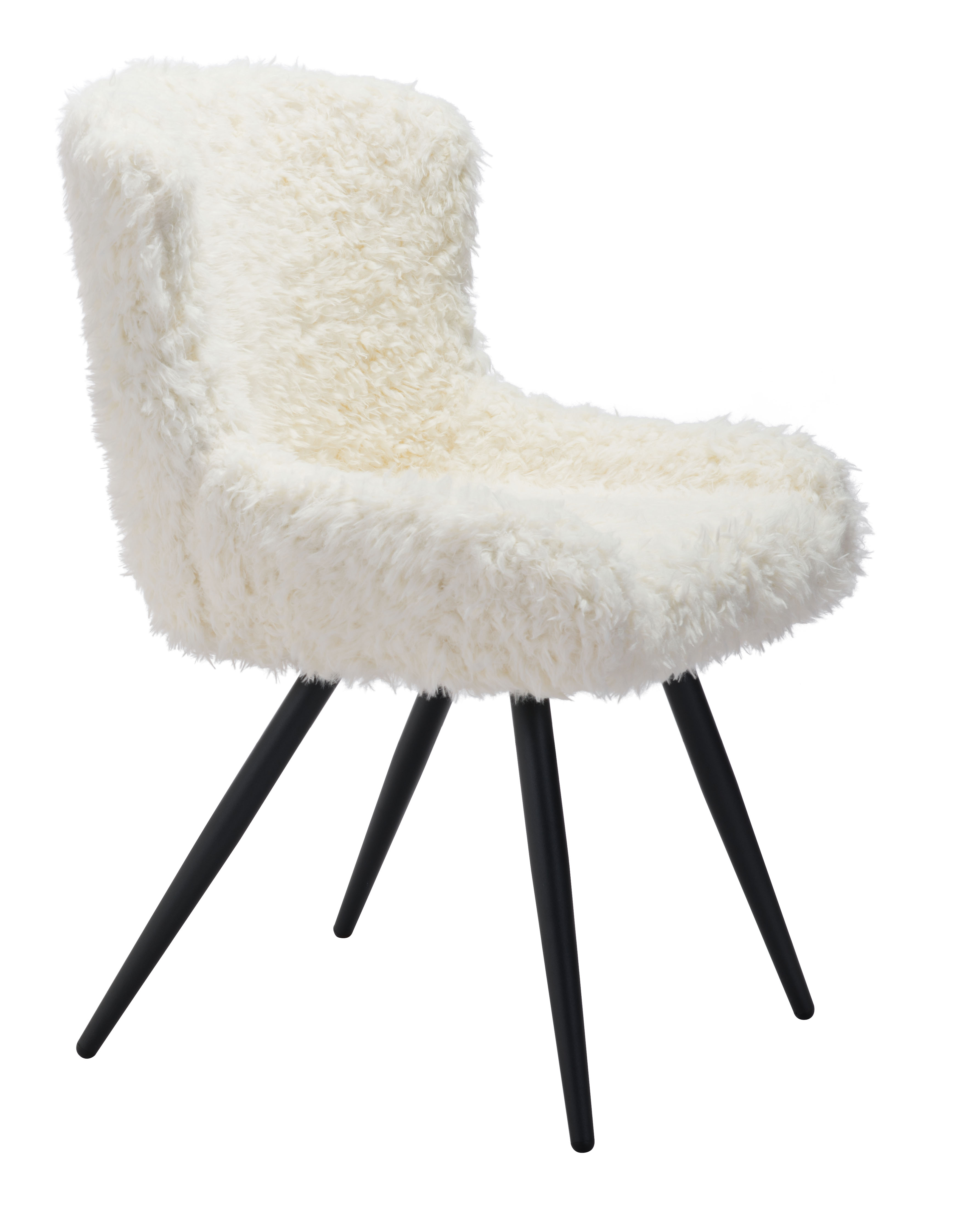 Surprising Coco Dining Chair Ivory By Zuo Modern Caraccident5 Cool Chair Designs And Ideas Caraccident5Info