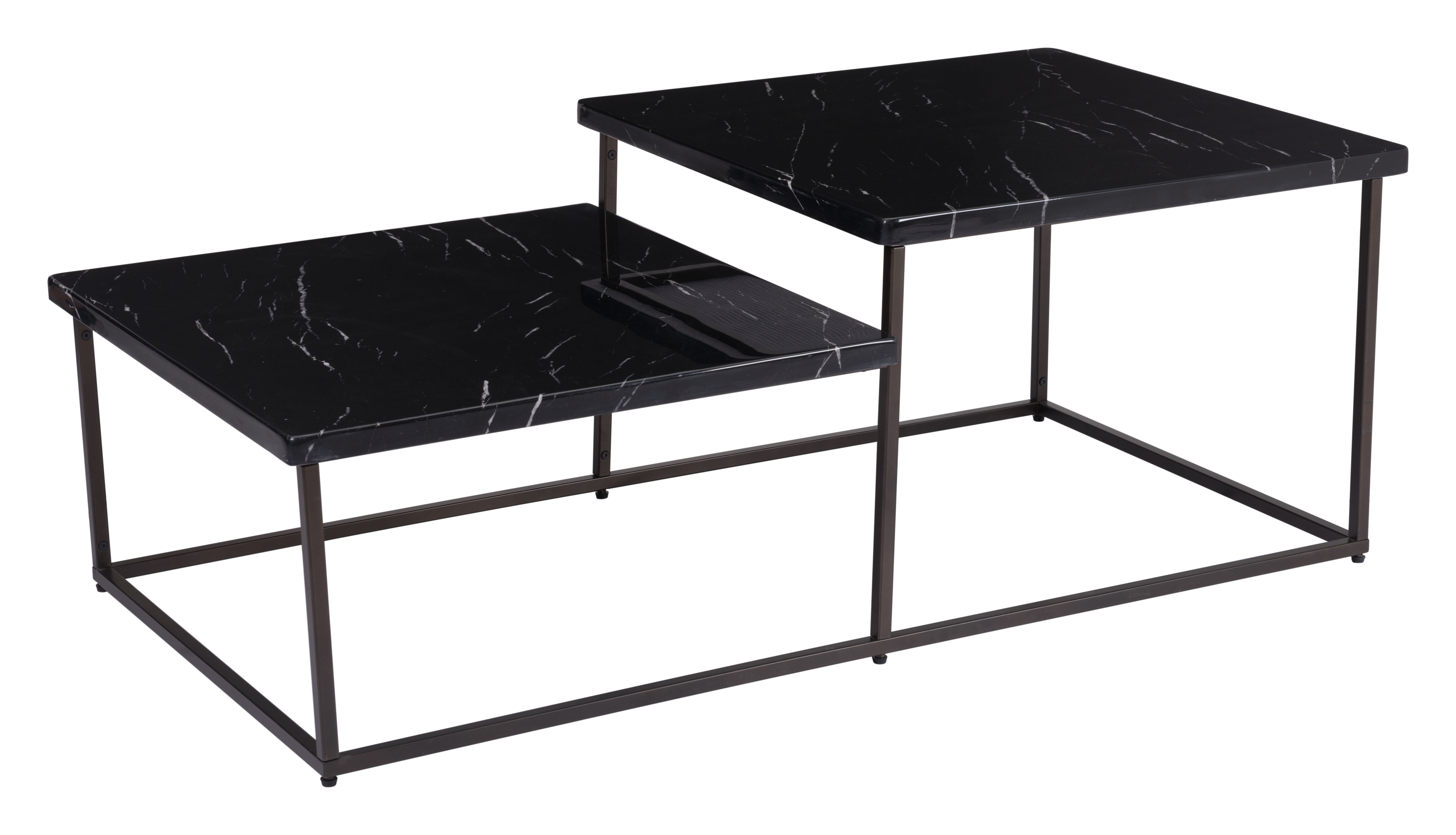 Super Stanton Coffee Table Black Stone Antique Brass By Zuo Modern Ncnpc Chair Design For Home Ncnpcorg