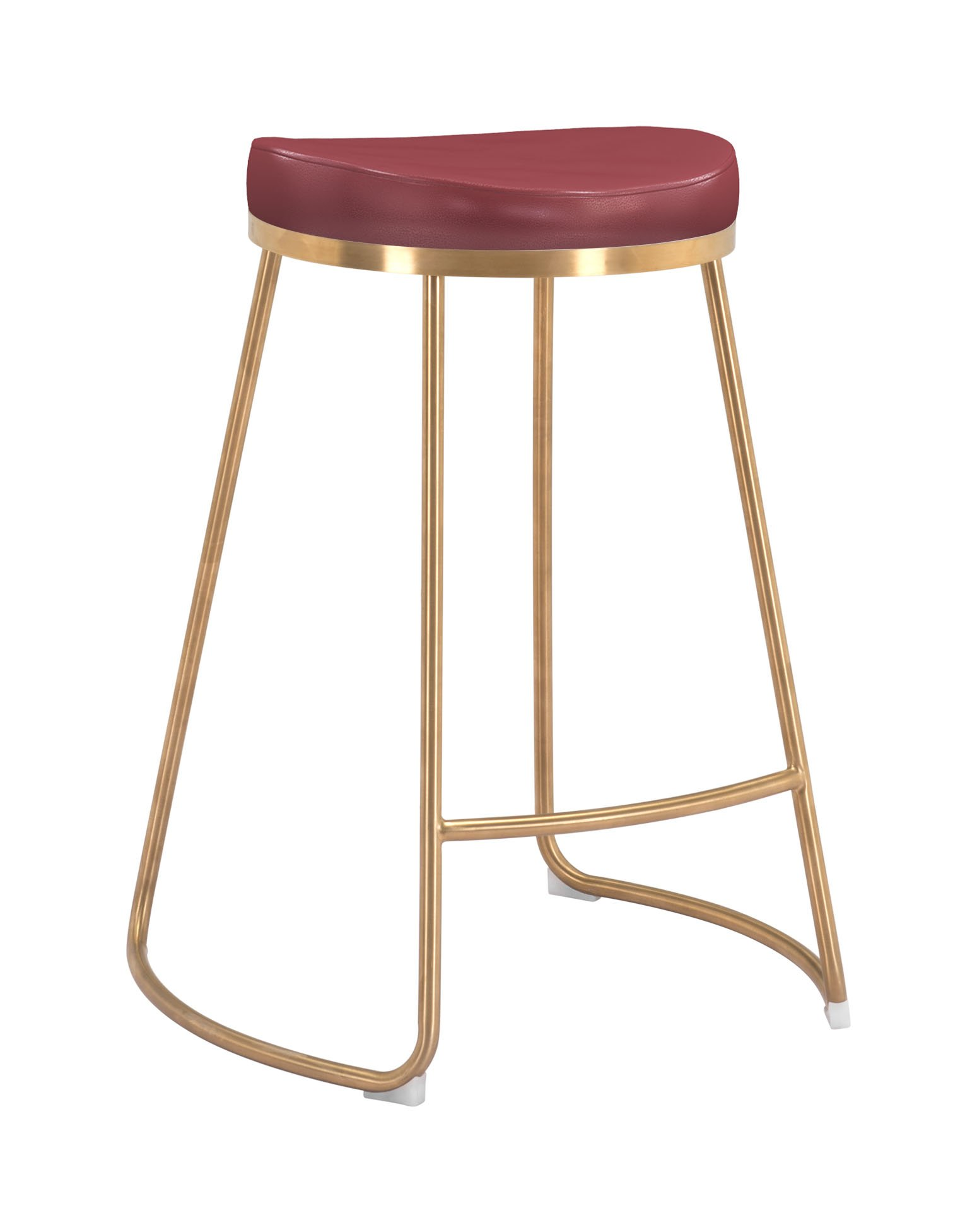 Groovy Bree Counter Stool Burgundy Set Of 2 By Zuo Modern Creativecarmelina Interior Chair Design Creativecarmelinacom