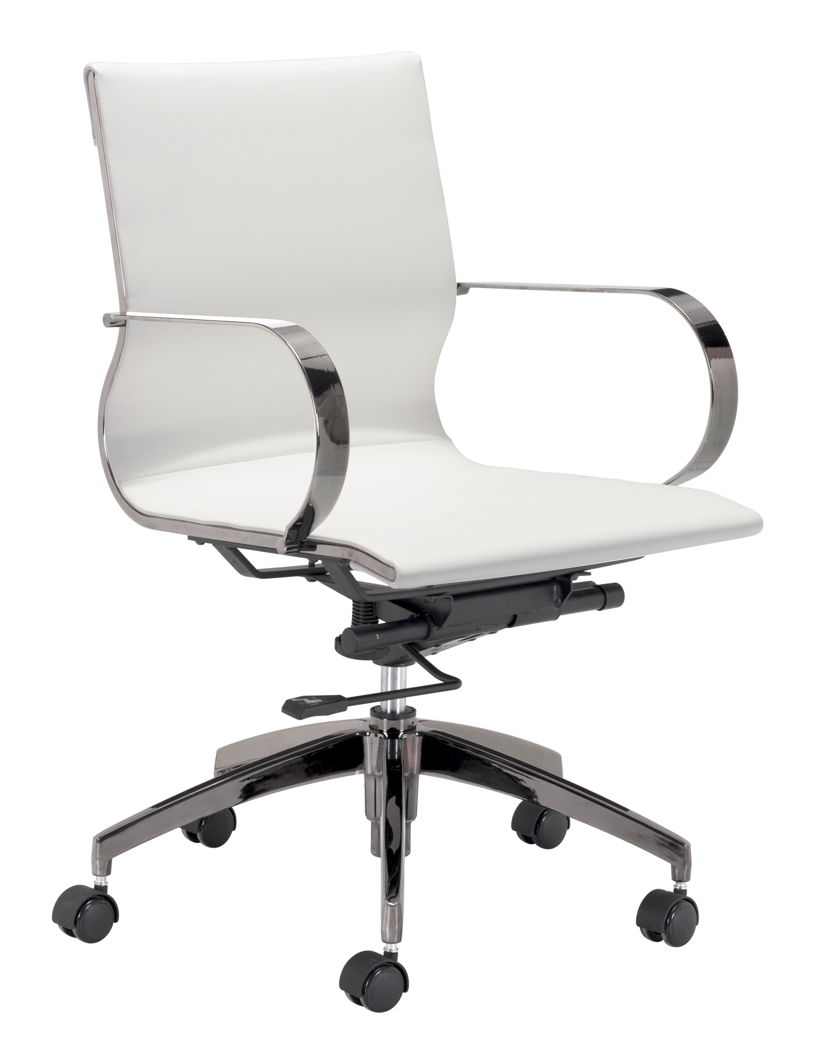 Swell Kano Office Chair White By Zuo Modern Caraccident5 Cool Chair Designs And Ideas Caraccident5Info