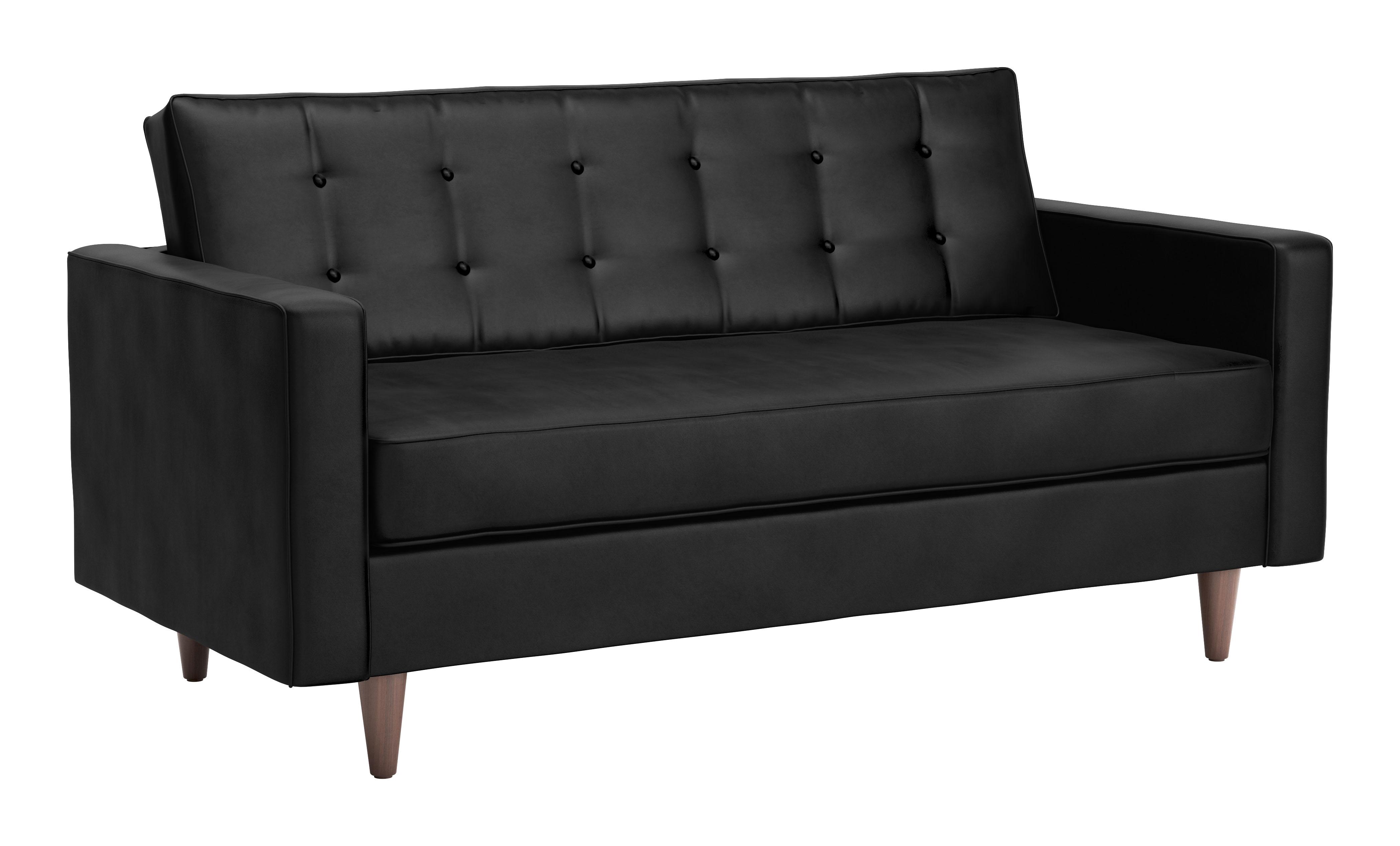 Super Puget Sofa Black Velvet By Zuo Modern Dailytribune Chair Design For Home Dailytribuneorg