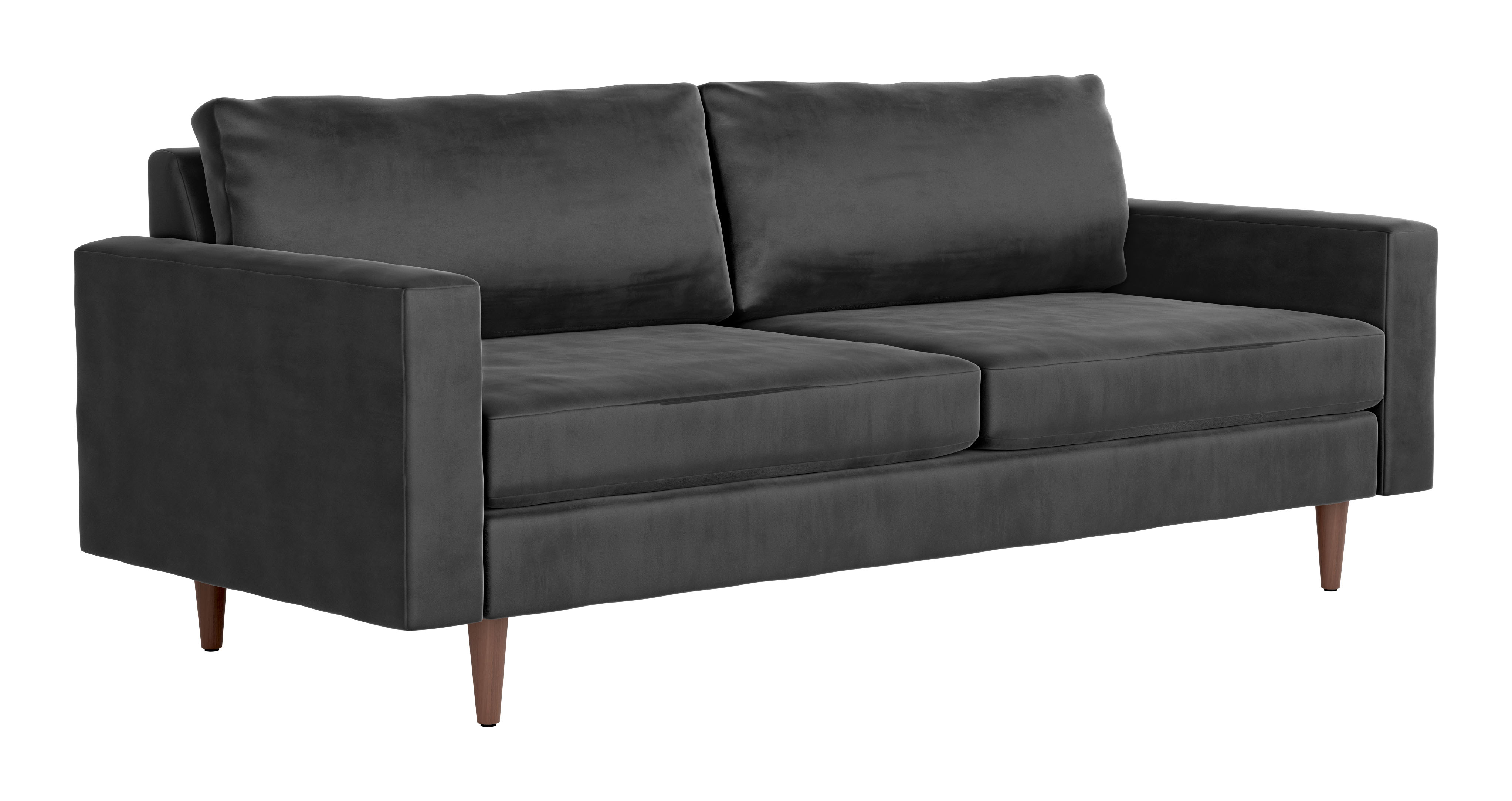 Cool Kace Sofa Charcoal Velvet By Zuo Modern Bralicious Painted Fabric Chair Ideas Braliciousco