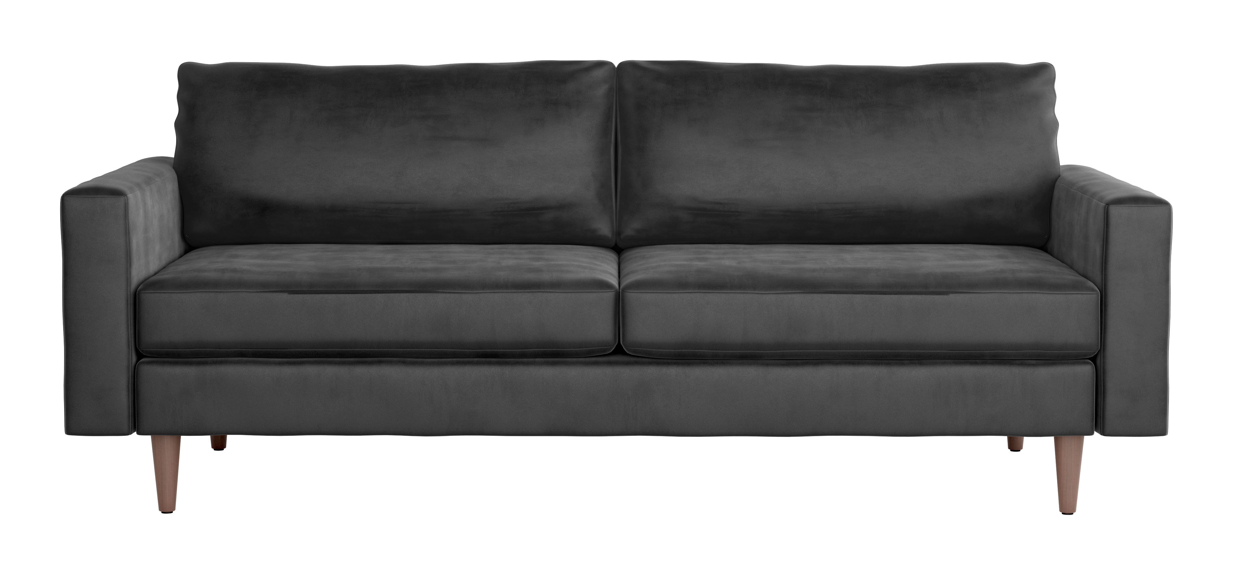 Marvelous Kace Sofa Charcoal Velvet By Zuo Modern Bralicious Painted Fabric Chair Ideas Braliciousco