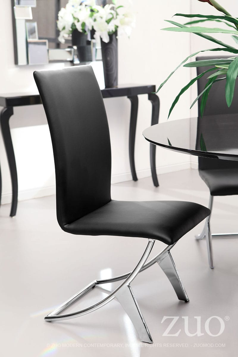 Delfin Dining Chair Black Set Of 2 By Zuo Modern