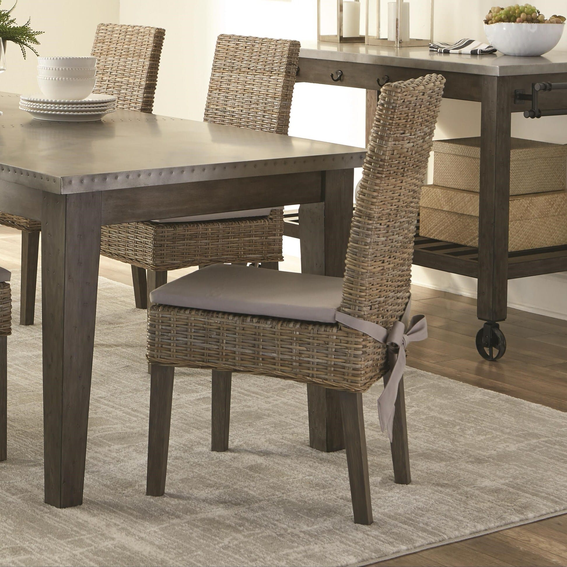 103803 Rattan Woven Dining Chair Set Of 2 By Scott Living