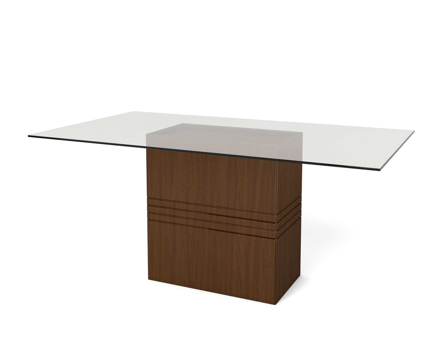 Perry Nut Brown 1 6 70 87 Inch Sleek Tempered Glass Table Top