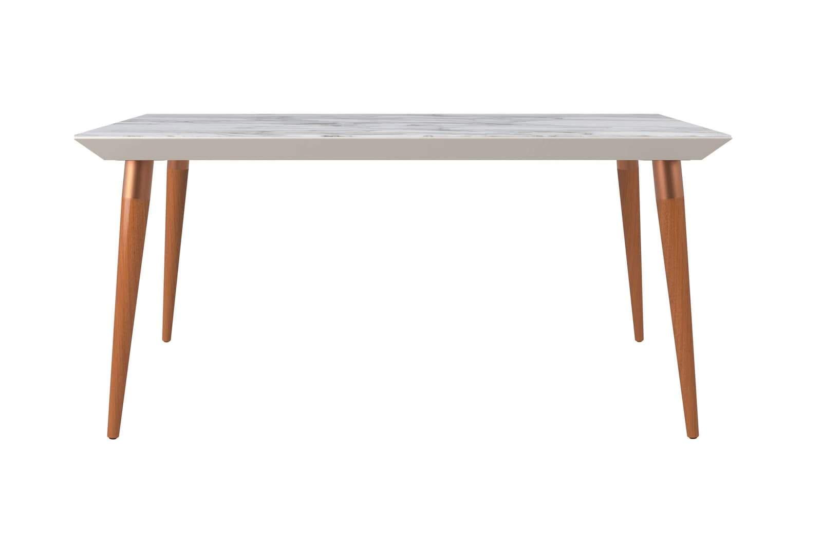 Peachy Utopia Modern 62 99 Inch Off White Maple Cream Rectangular Dining Table By Manhattan Comfort Uwap Interior Chair Design Uwaporg