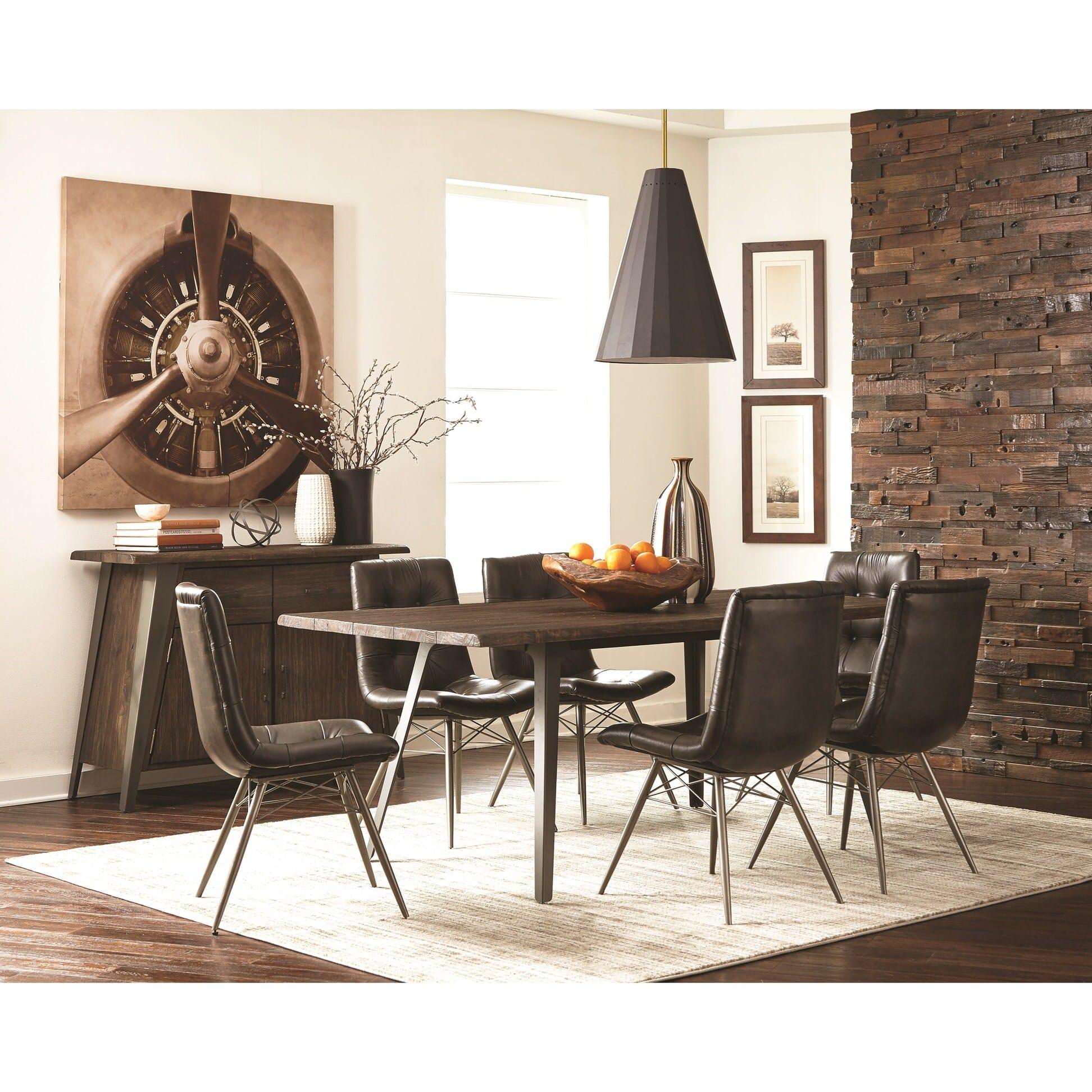 107861 Dark Rustic Brown Dining Table By Scott Living