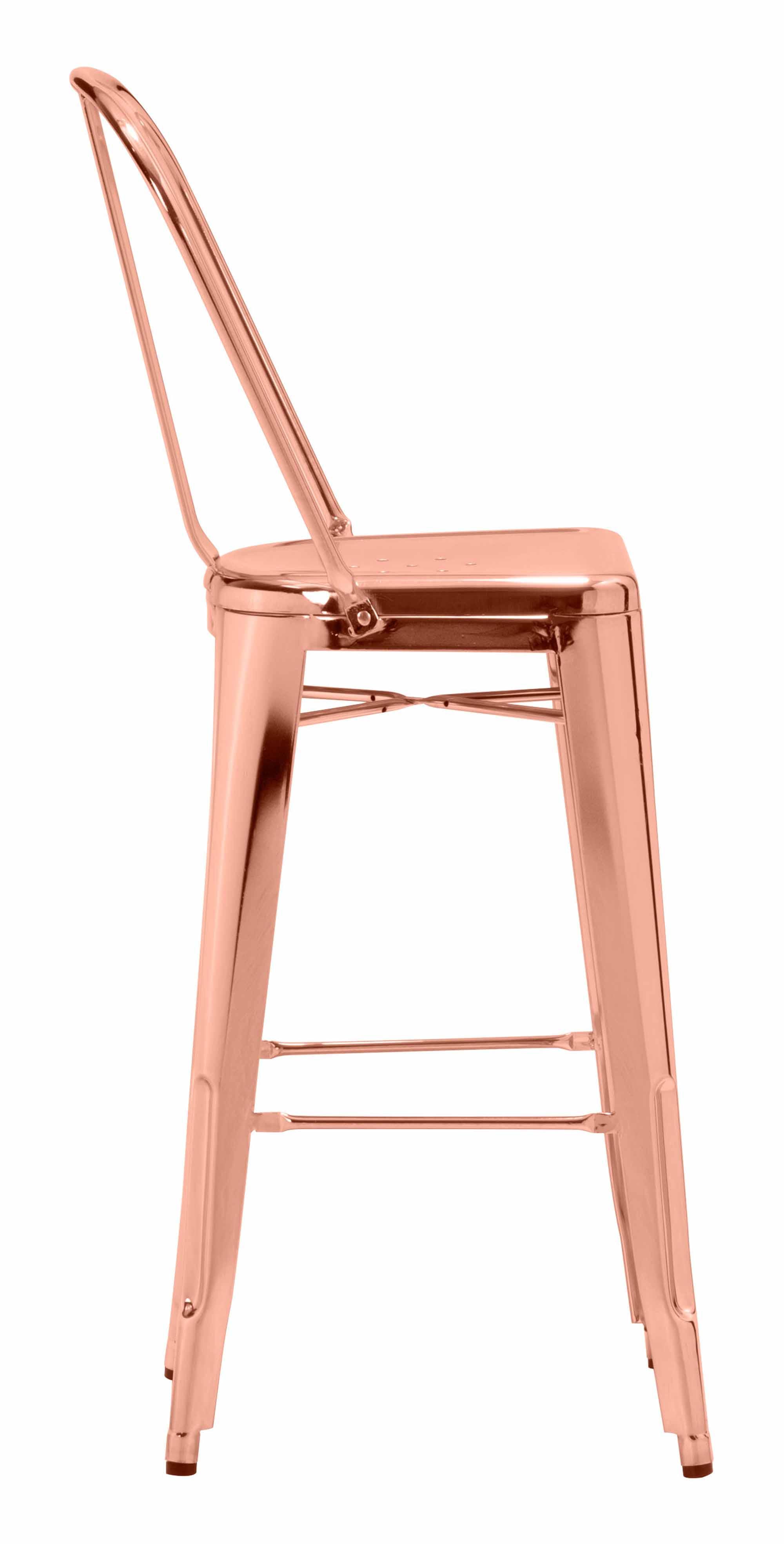 Elio Bar Chair Rose Gold by Zuo Modern : 108063 2 from futonland.com size 2000 x 3938 jpeg 219kB