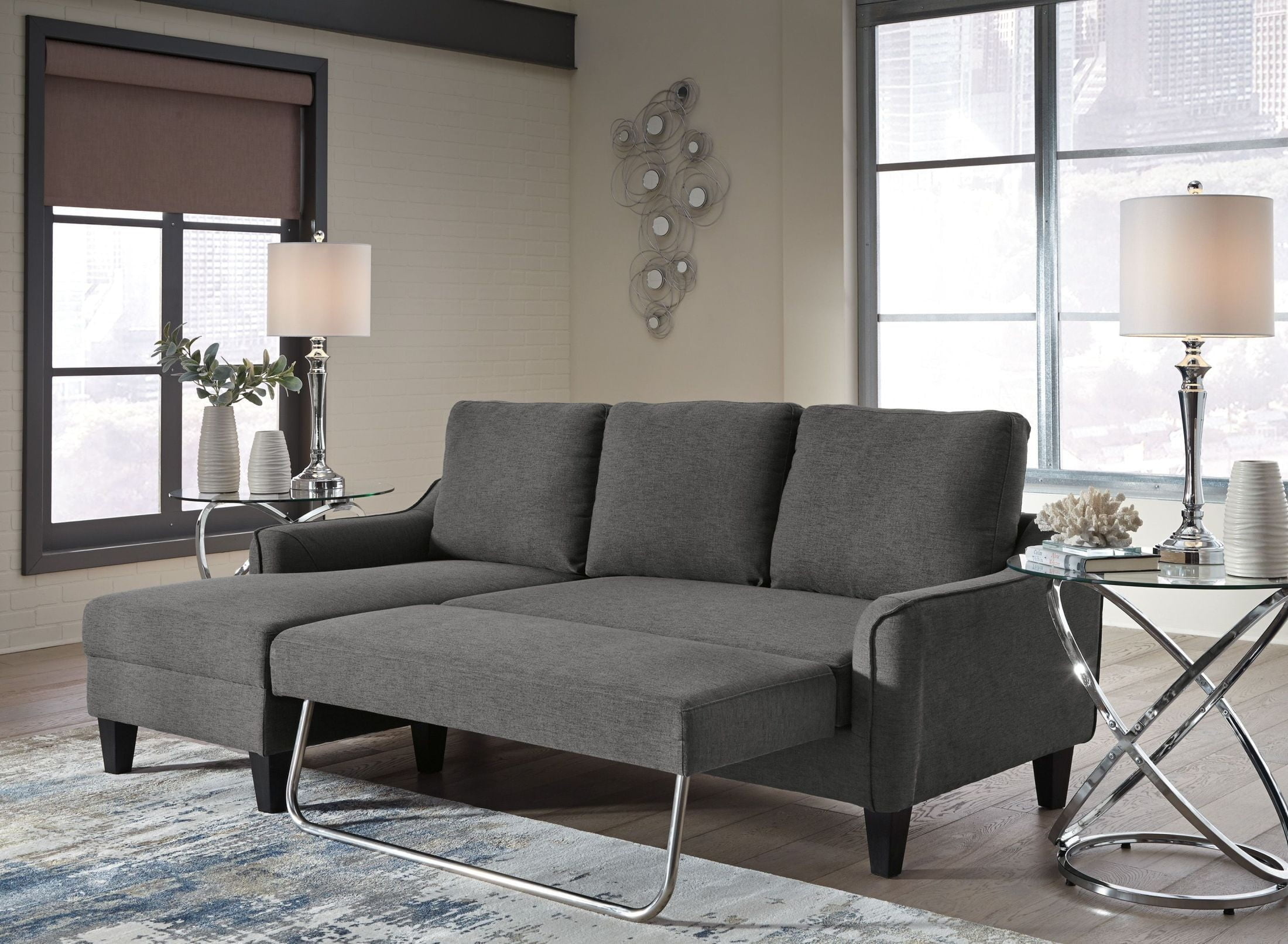 Jarreau Queen Sofa Sleeper Gray Signature Design By Ashley
