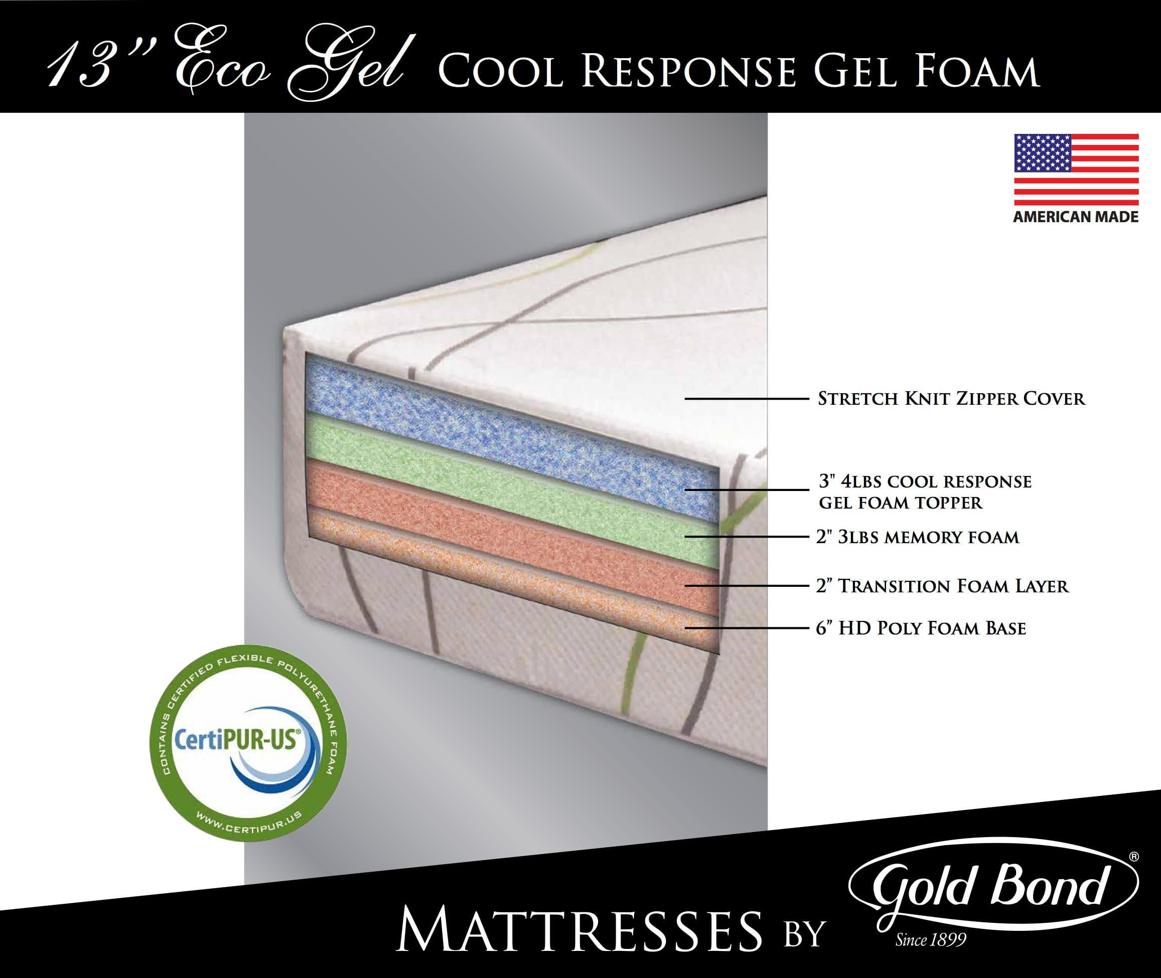 Eco 13 Inch Gel Memory Foam Mattress by Gold Bond