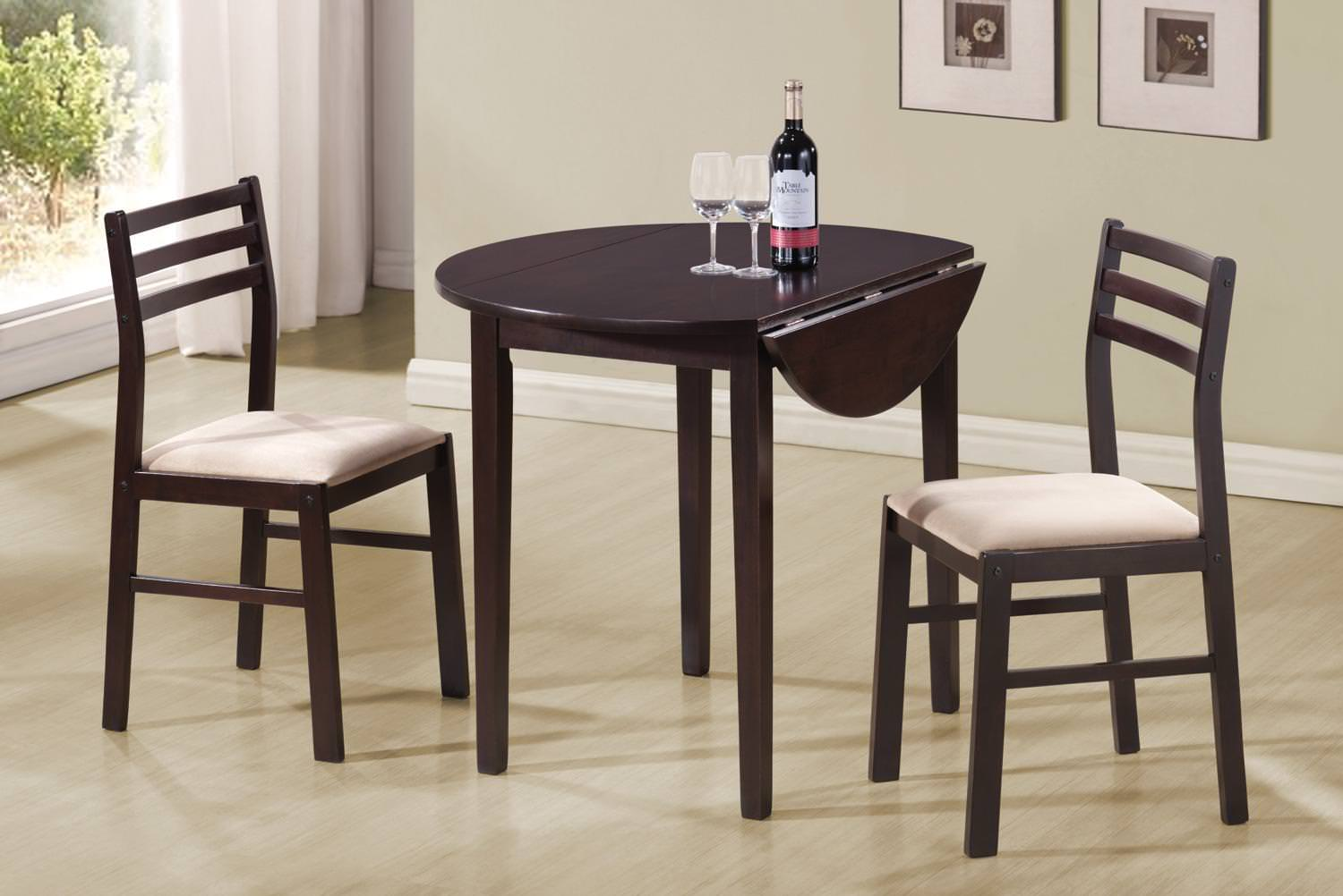 130005 3 Pcs Dining Set By Coaster Fine Furniture