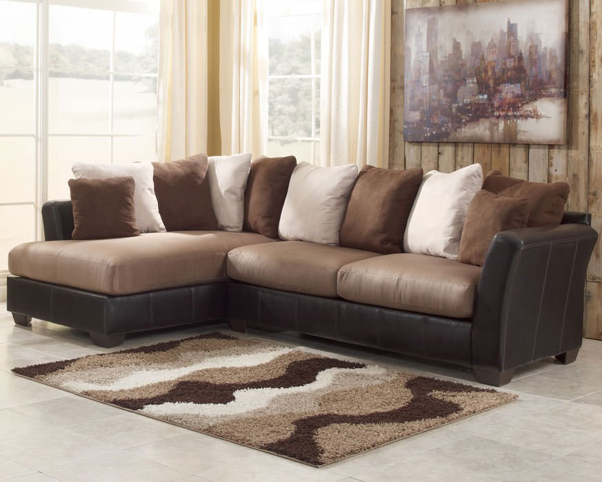 Masoli Mocha Sectional Sofa Set Signature Design by Ashley ...
