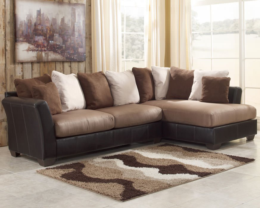 masoli mocha sectional sofa set signature design by ashley With sectional sofas from ashley furniture