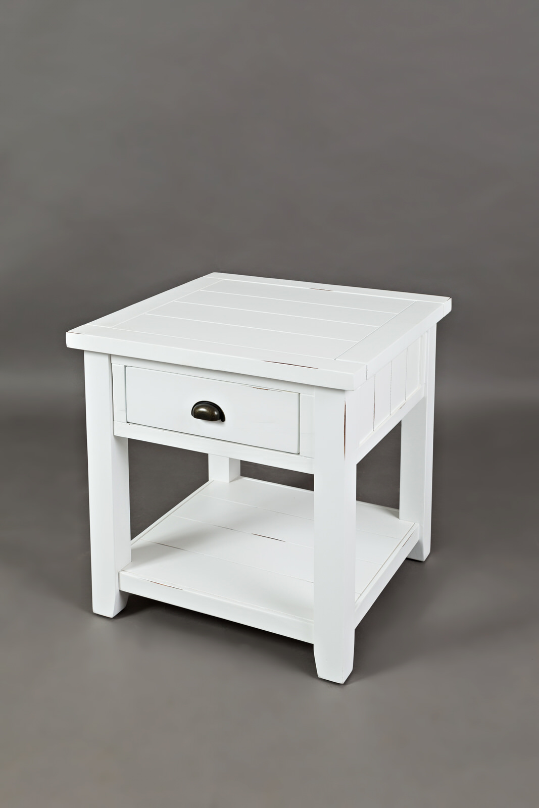 newest collection 2c4d1 4450c Artisan's Craft Weathered White End Table by Jofran Furniture