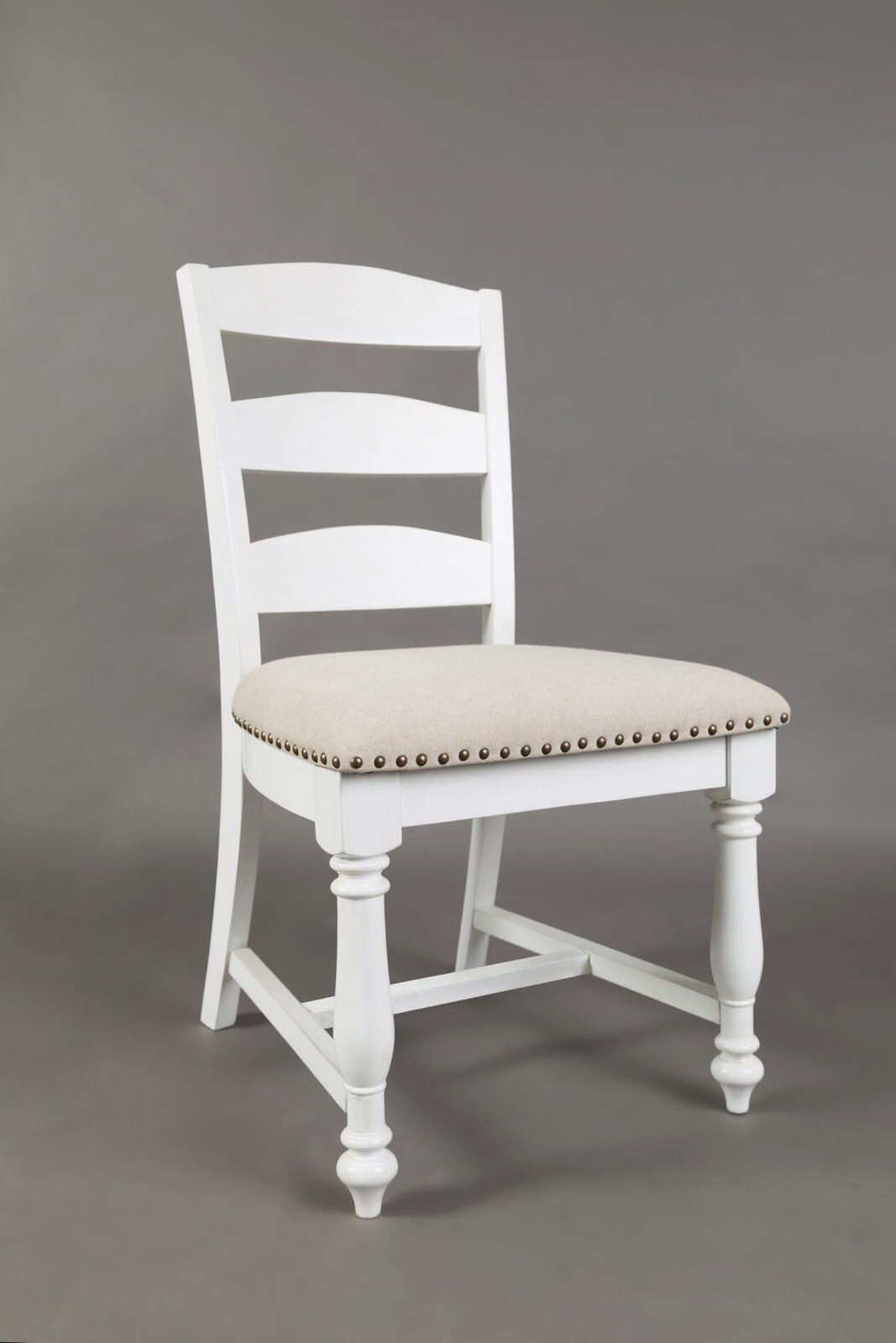 Castle Hill Antique White Ladder Back Dining Chair Set Of 2 By Jofran Furniture