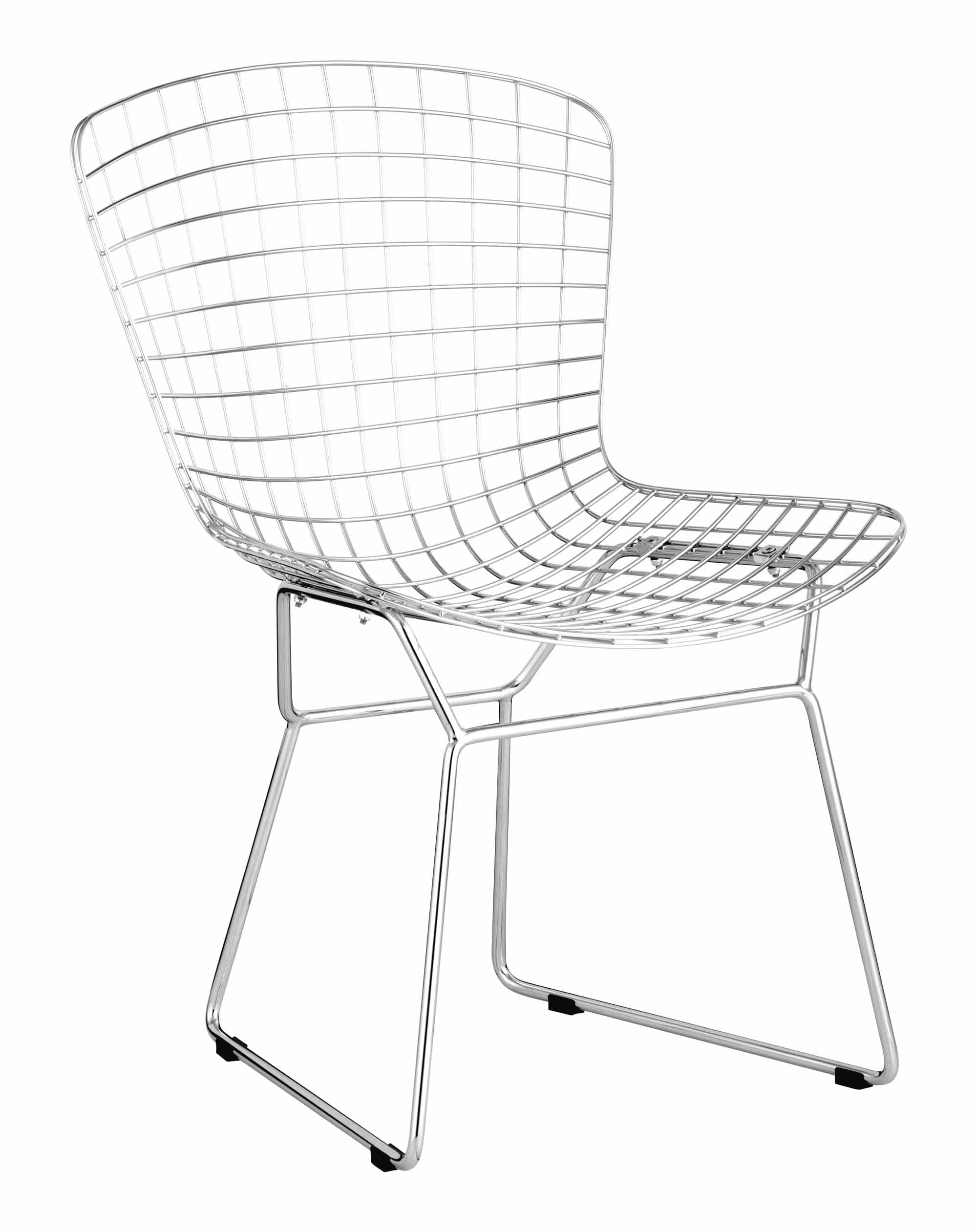 Groovy Wire Dining Chair Chrome Set Of 2 By Zuo Modern Caraccident5 Cool Chair Designs And Ideas Caraccident5Info