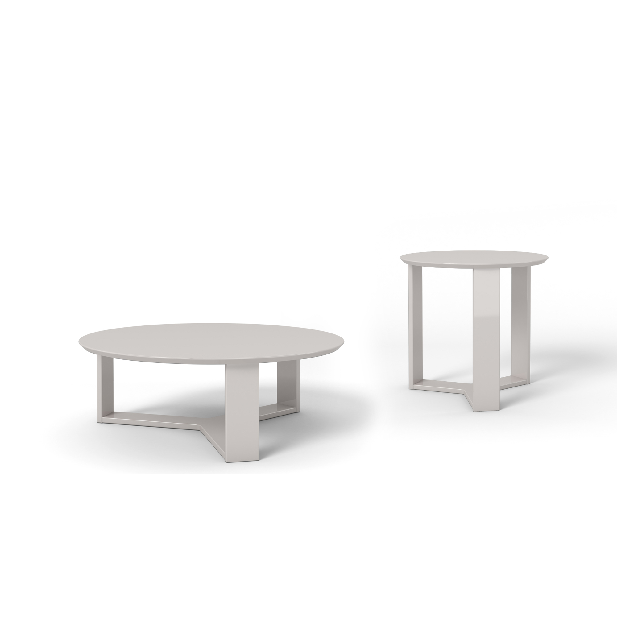 Madison off white 2 piece accent table living room set